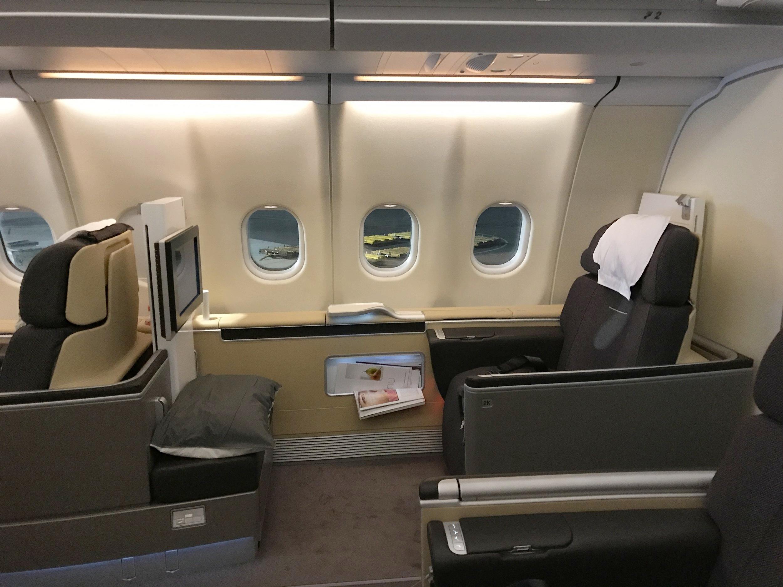 Lufthansa First Class – Seat 2K