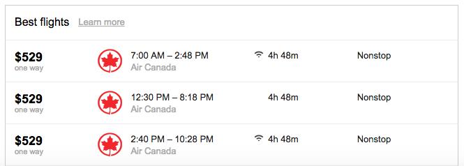 Google-Flights-SFO-YYZ-AirCanada