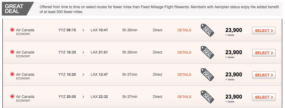 YYZ-LAX-Aeroplan-Market-Fare-Great-Deal