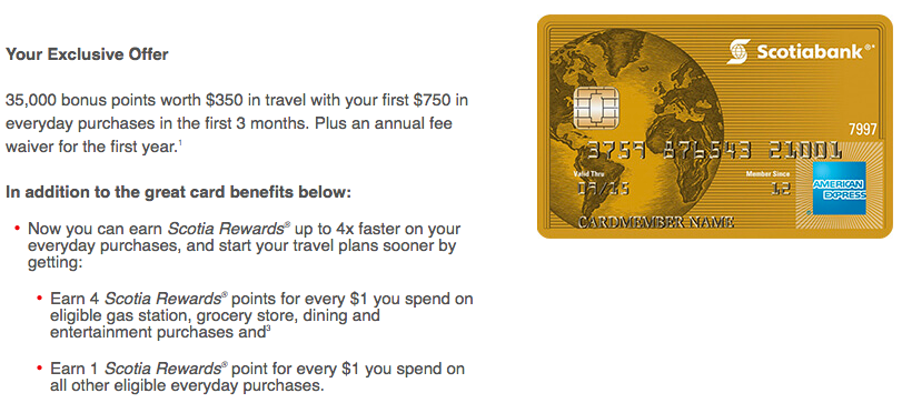 Scotiabank American Express Gold 35K Offer | Prince of Travel | Miles & Points