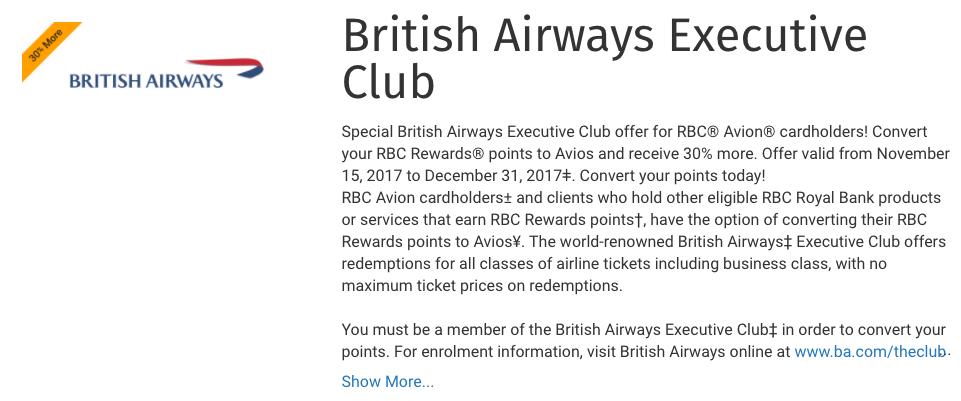 RBC to Avios 30% Conversion Bonus | Prince of Travel | Miles & Points