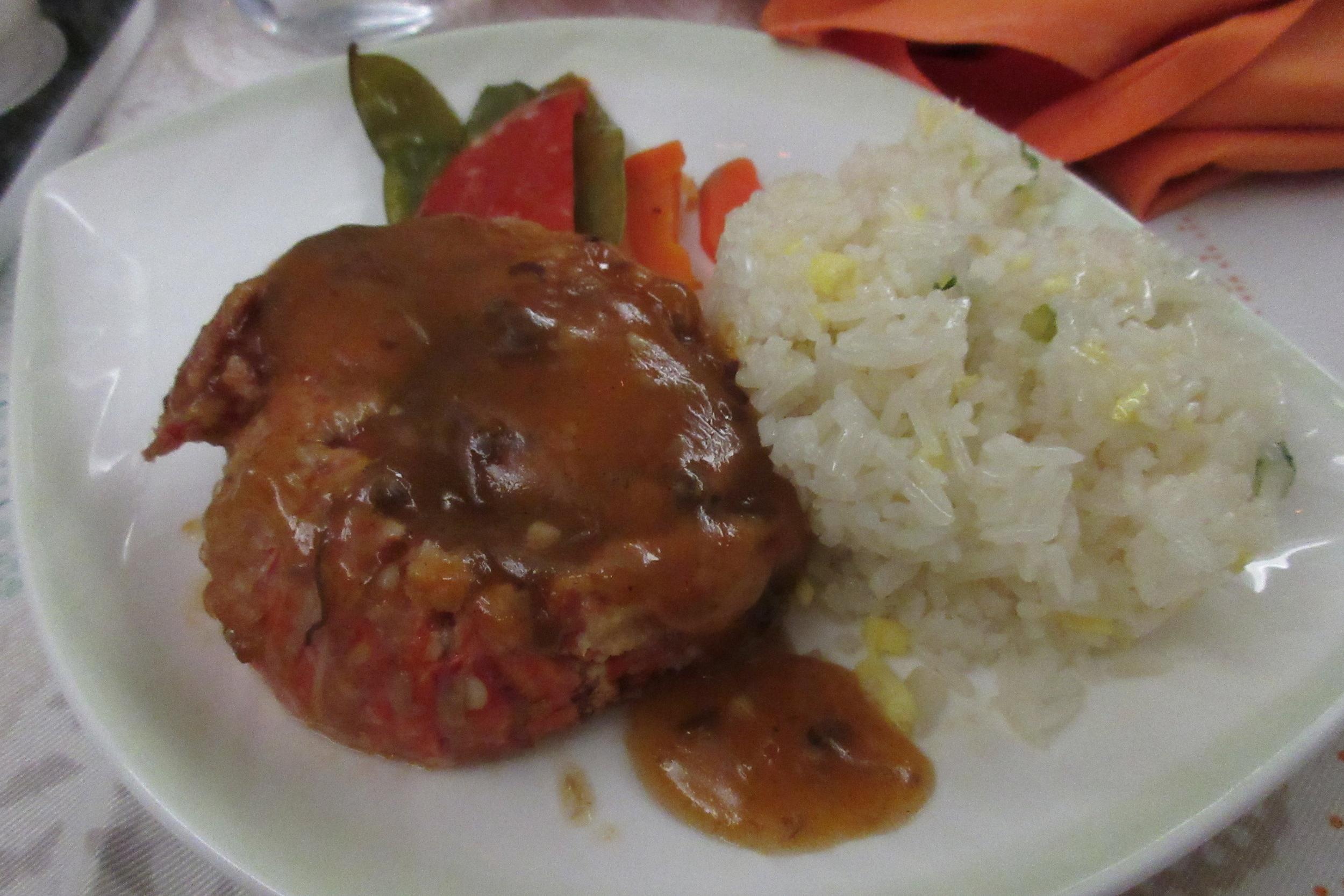 EVA Air business class Toronto to Taipei – Stir fried lobster with XO sauce