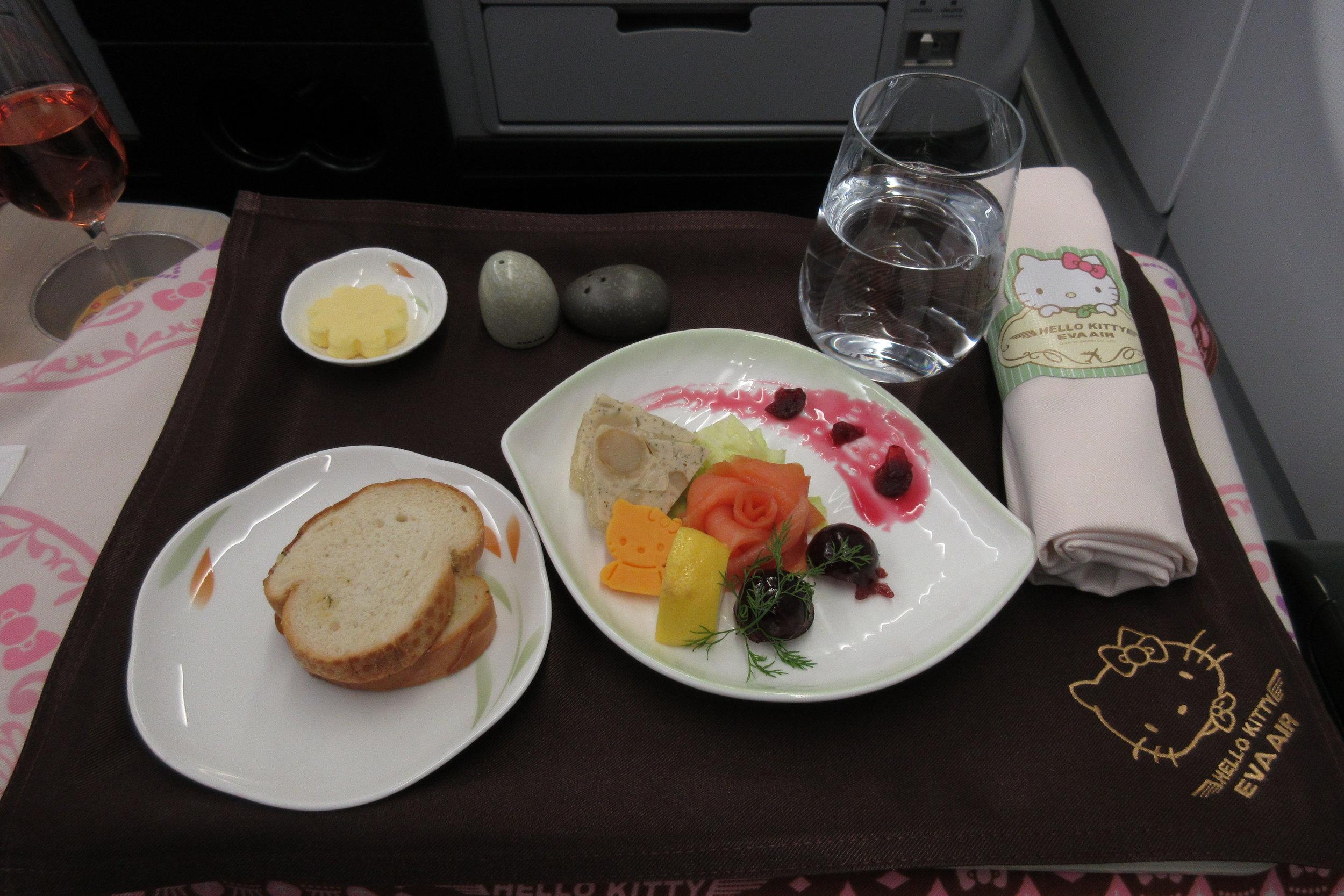 Hello Kitty-themed meal service aboard EVA Air
