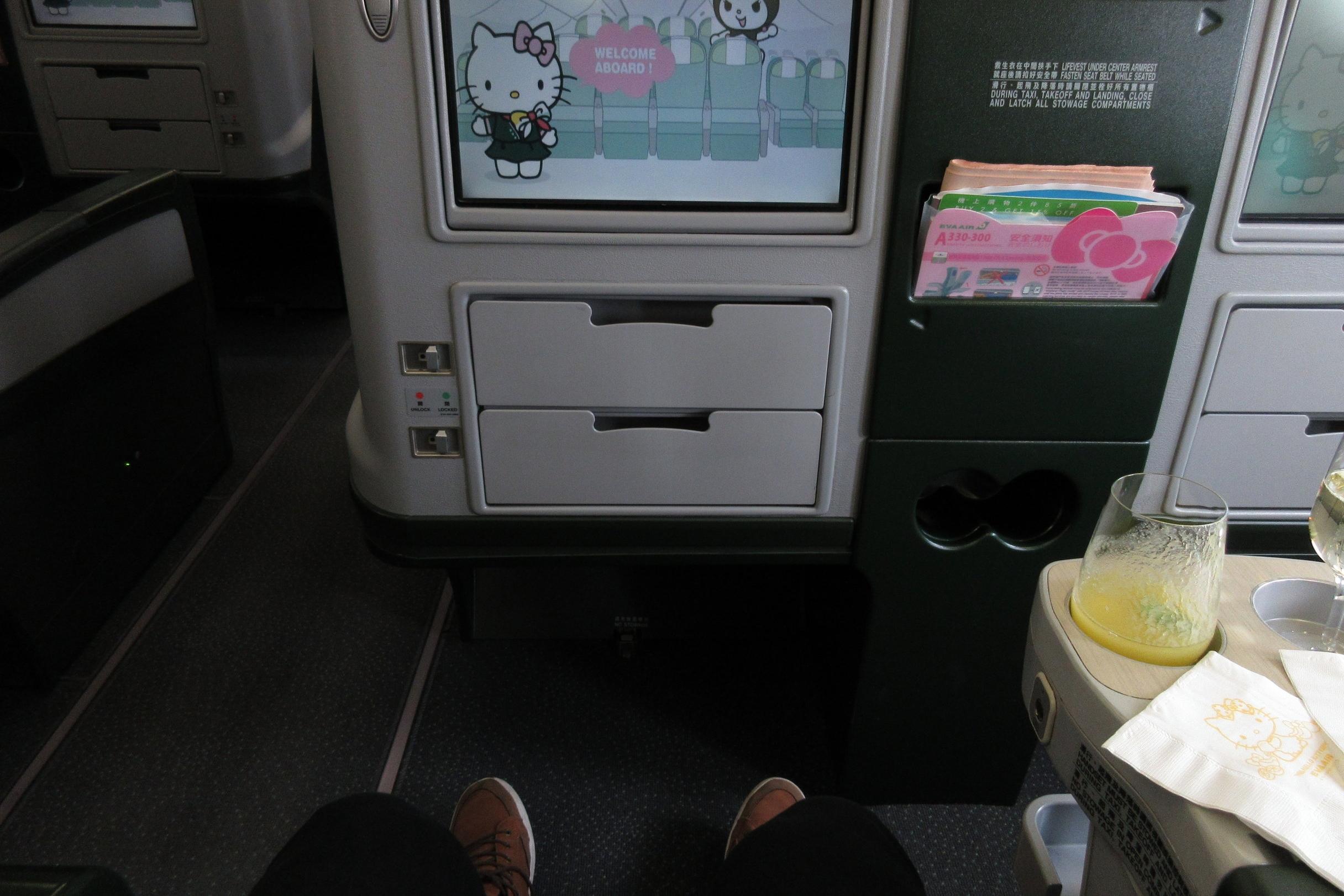 EVA Air regional business class – Legroom