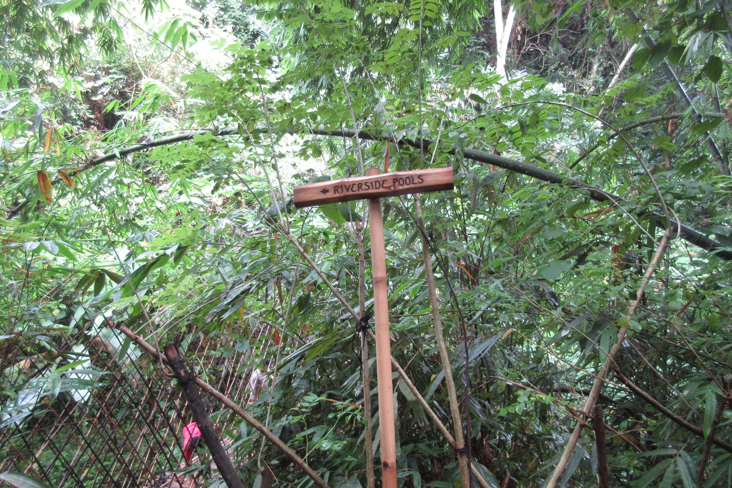Bambu Indah Ubud – Riverside sign