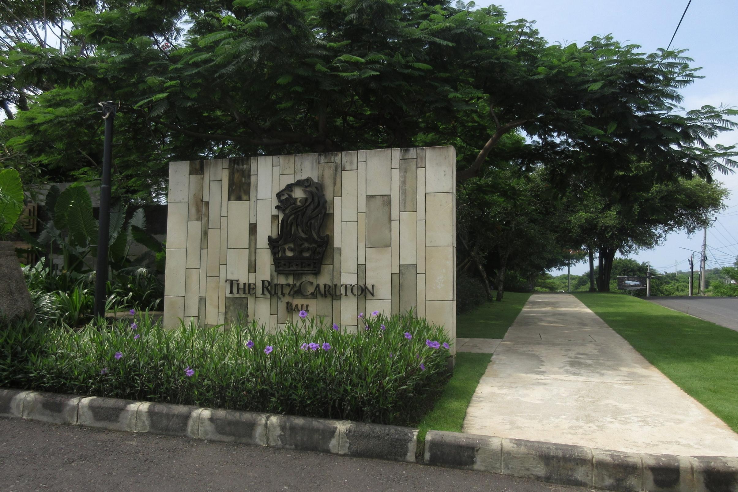 The Ritz-Carlton, Bali – Entrance sign