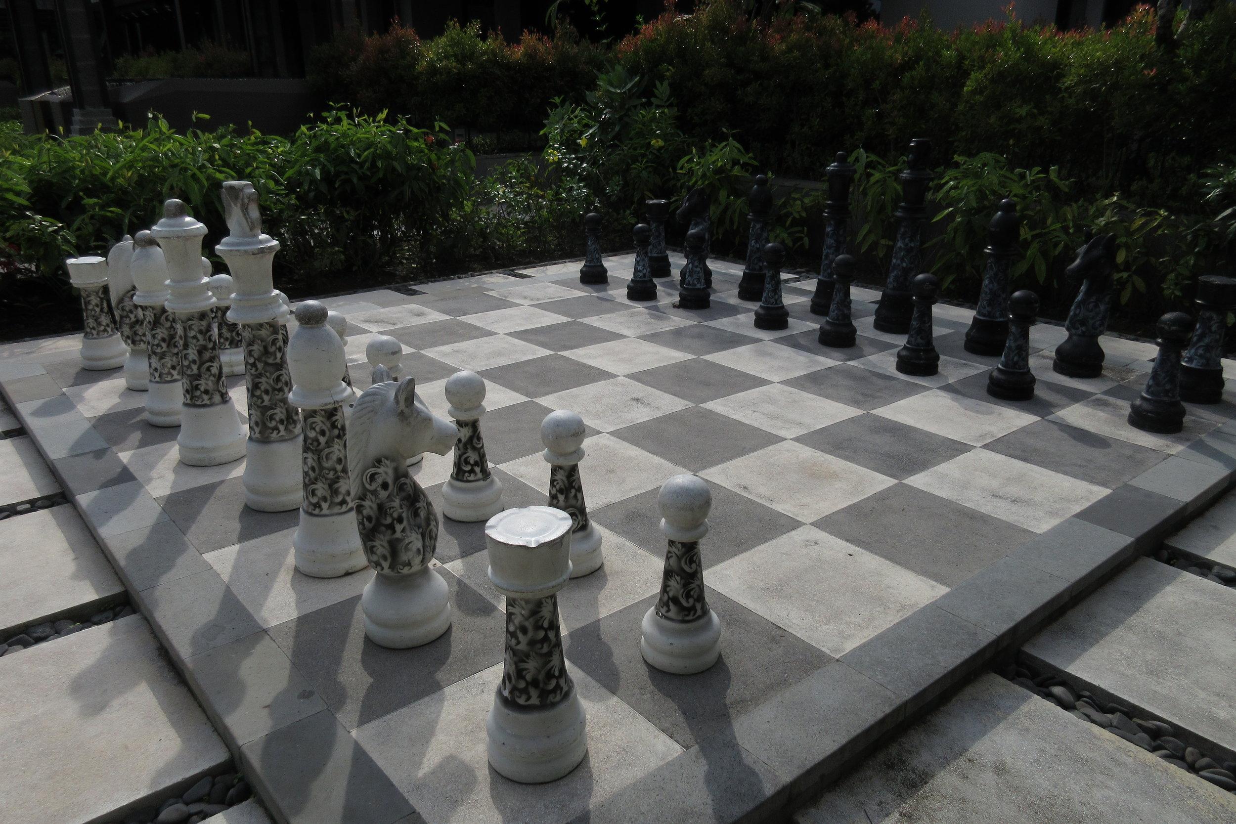 The Ritz-Carlton, Bali – Life-sized chessboard
