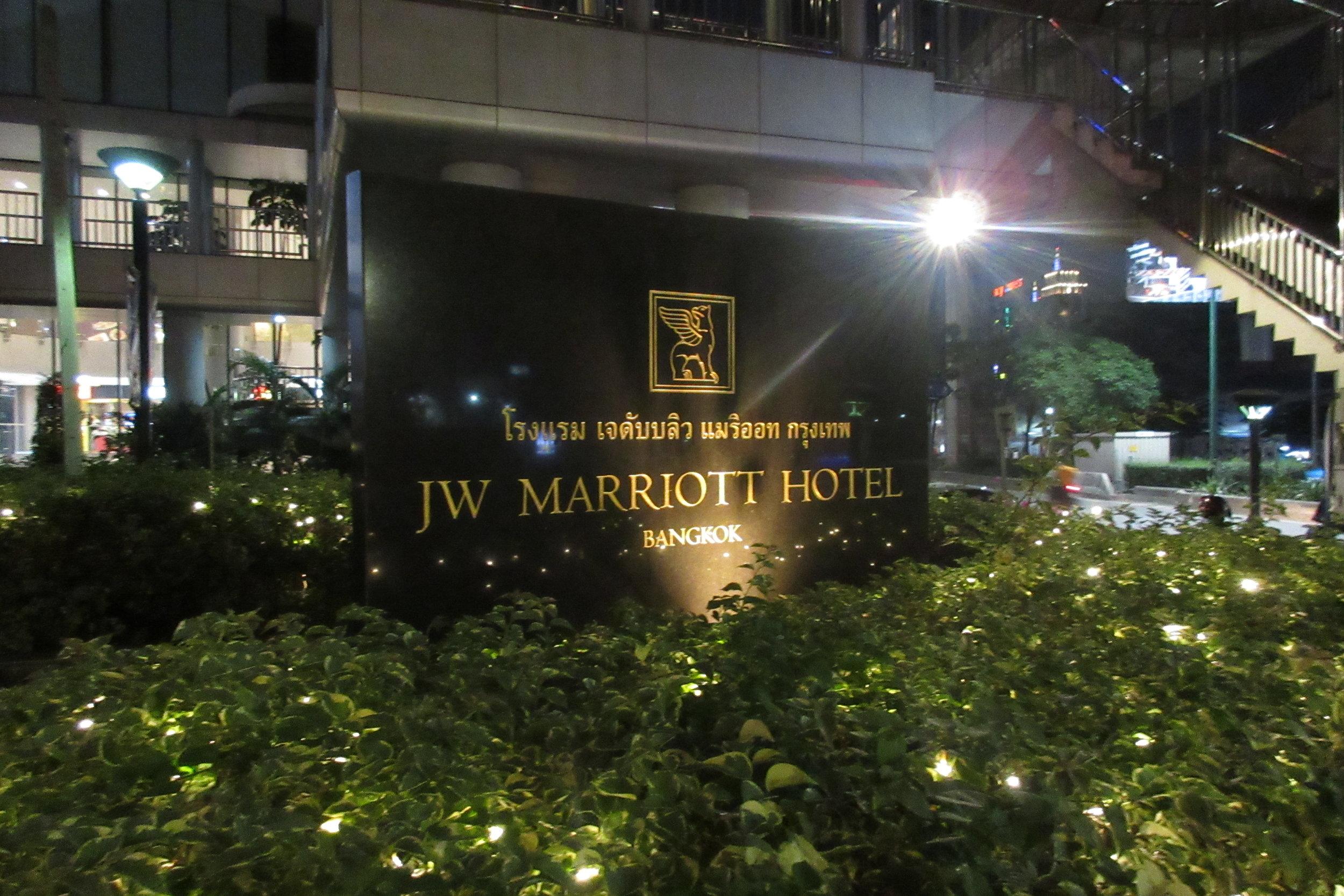 JW Marriott Bangkok – Entrance sign
