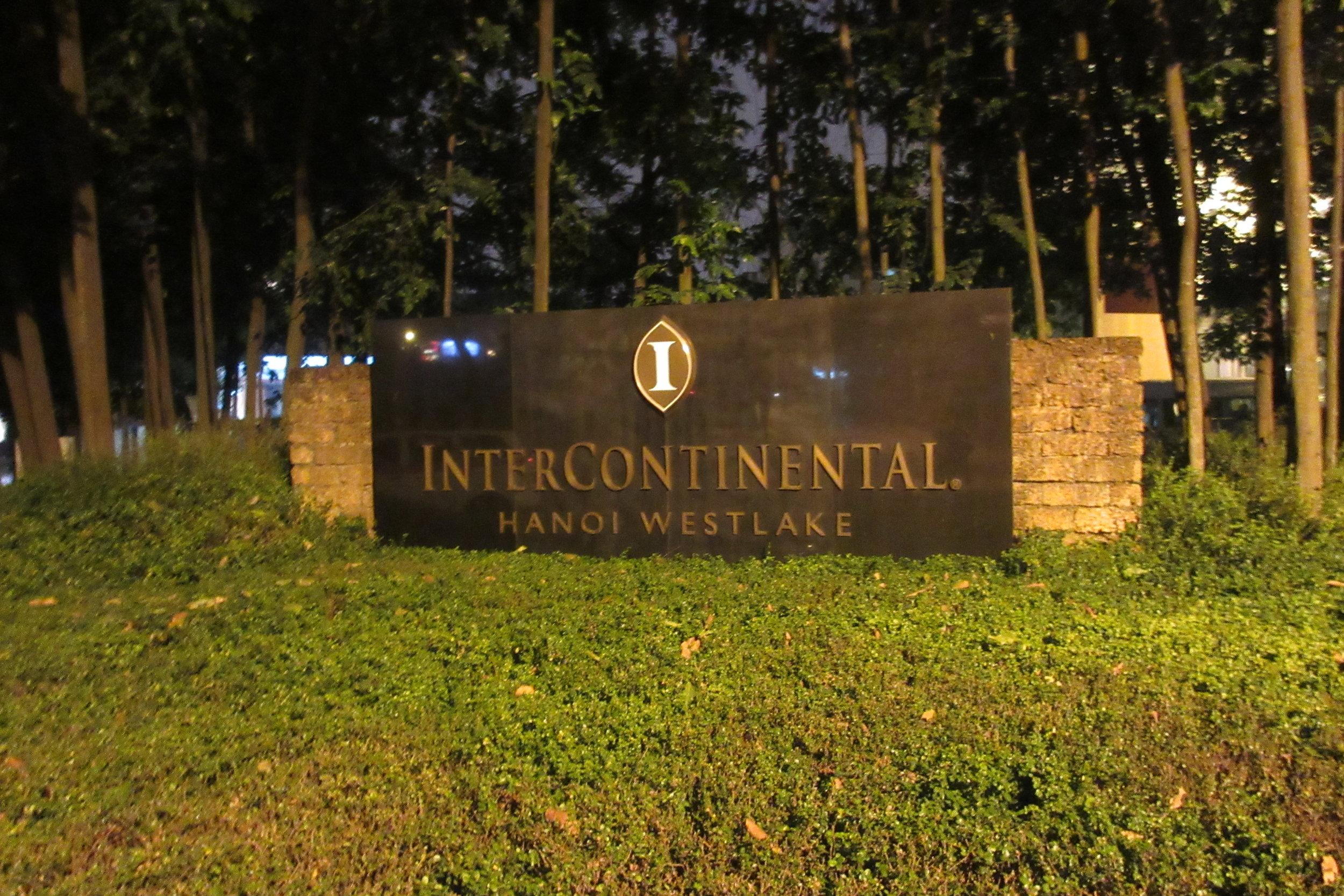 InterContinental Hanoi Westlake – Entrance sign