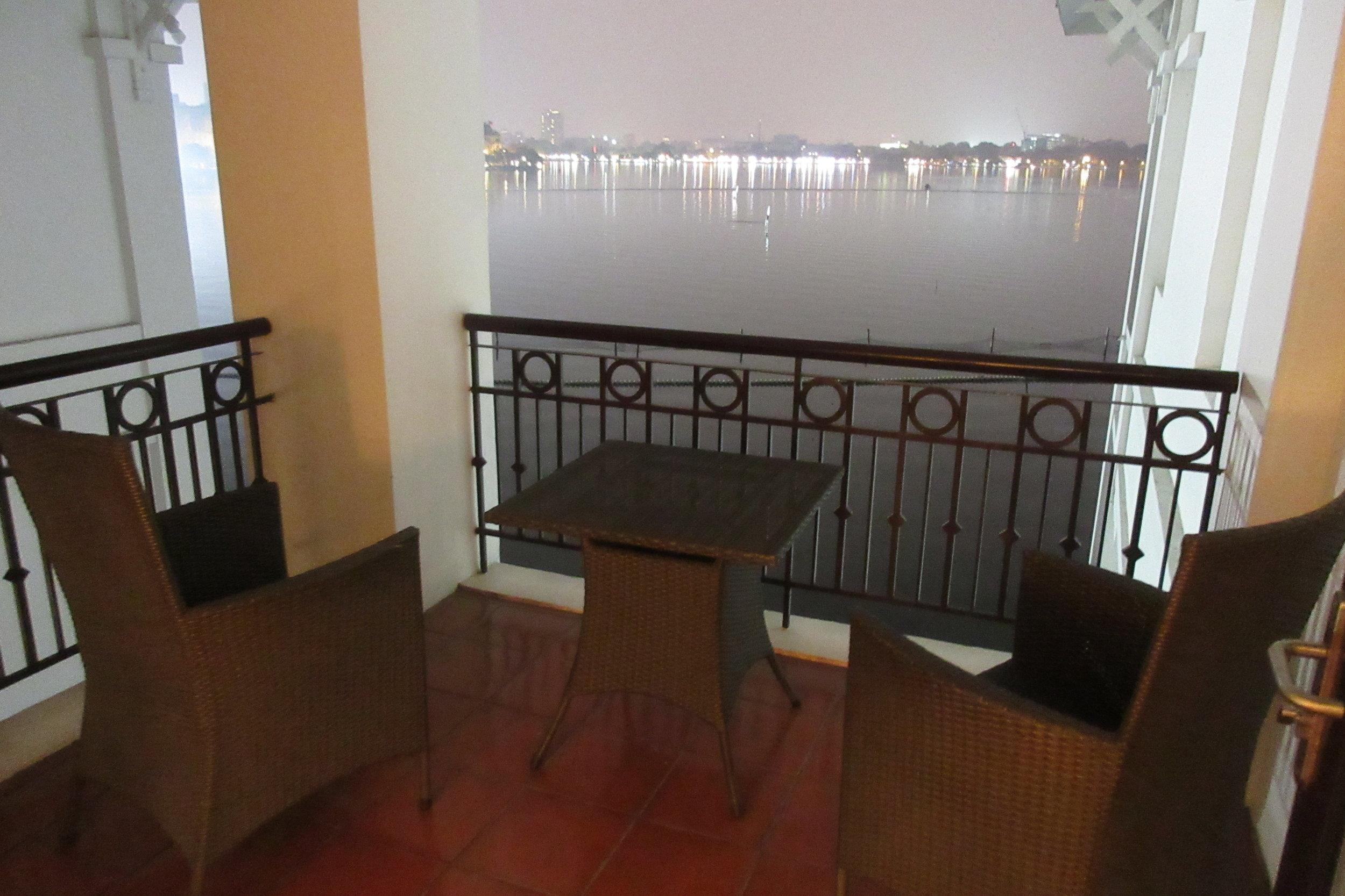 InterContinental Hanoi Westlake – Overwater Pavilion Room balcony