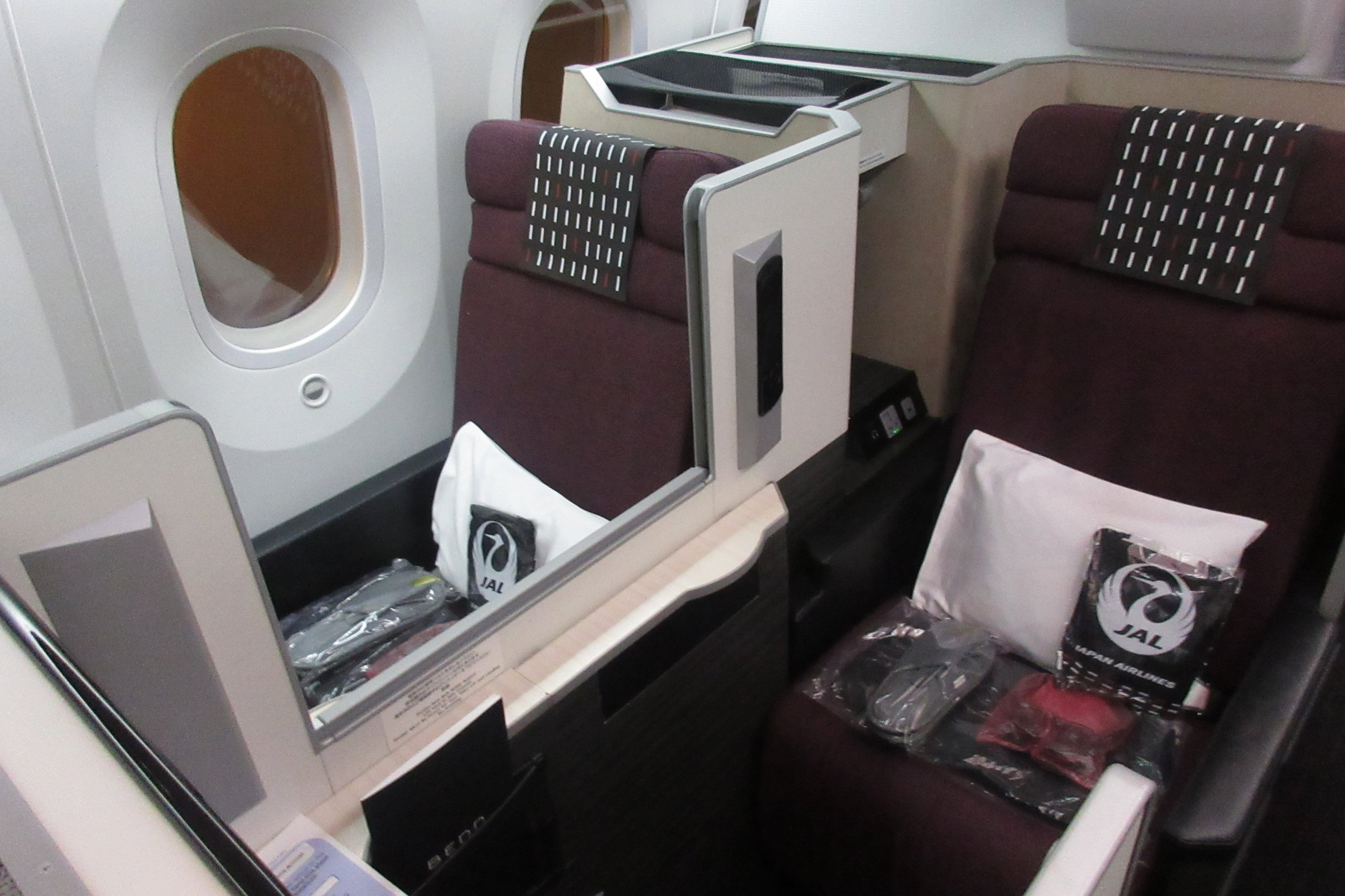 Japan Airlines business class – Seats 9H and 9K