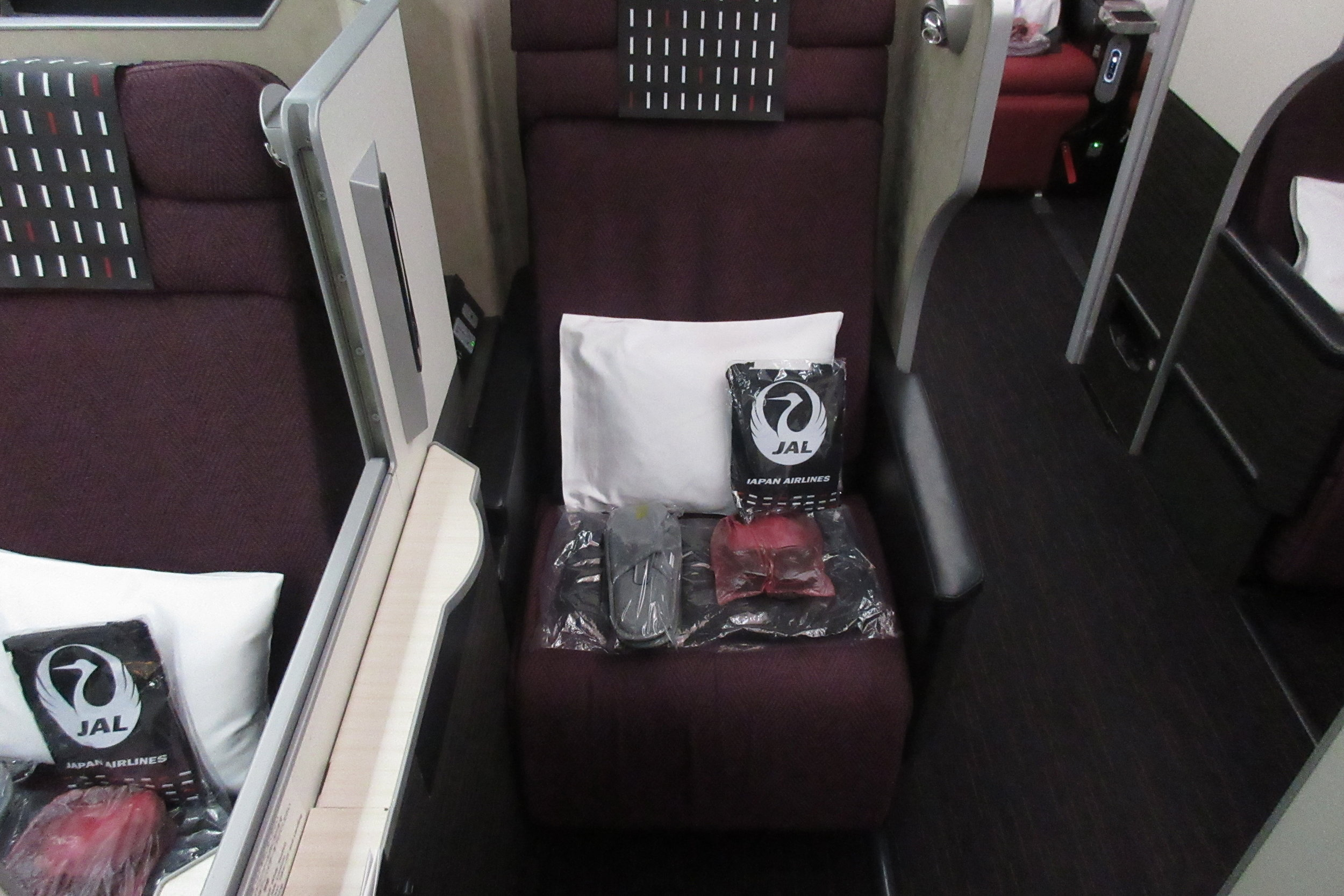 Japan Airlines business class – Seat 9H
