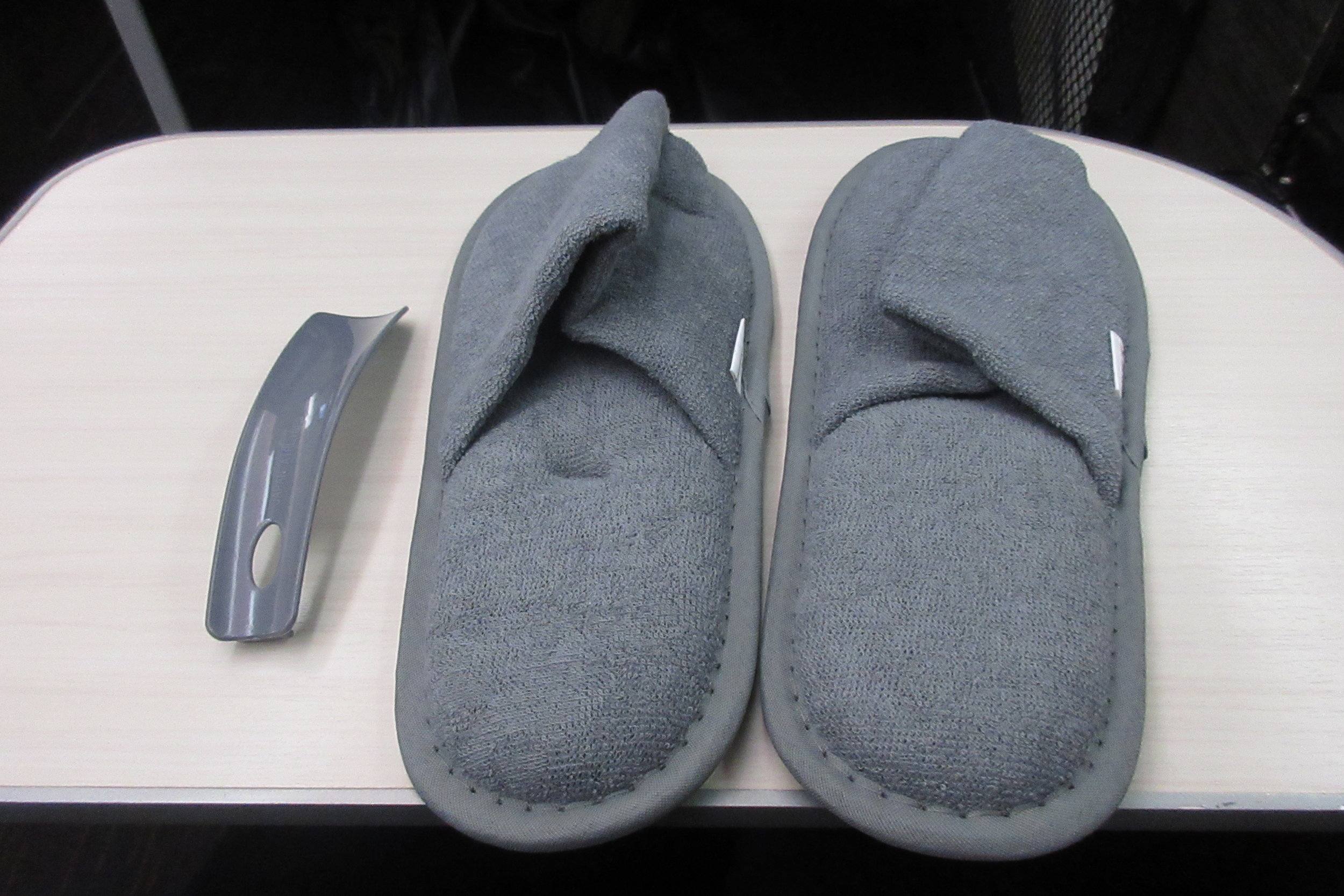 Japan Airlines business class – Slippers