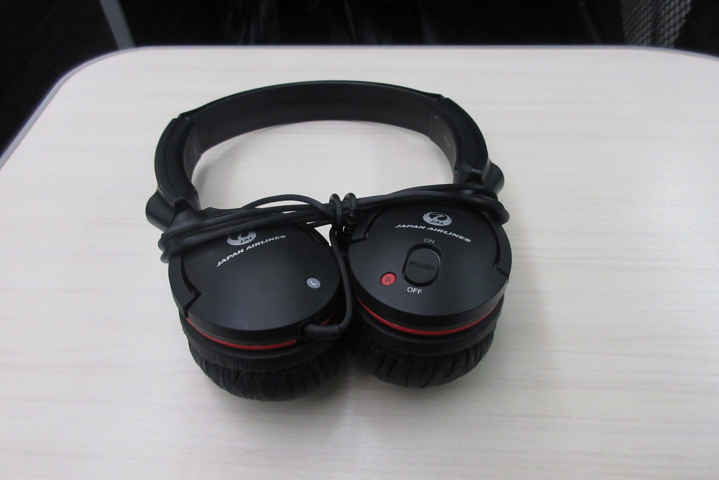Japan Airlines business class – Headphones
