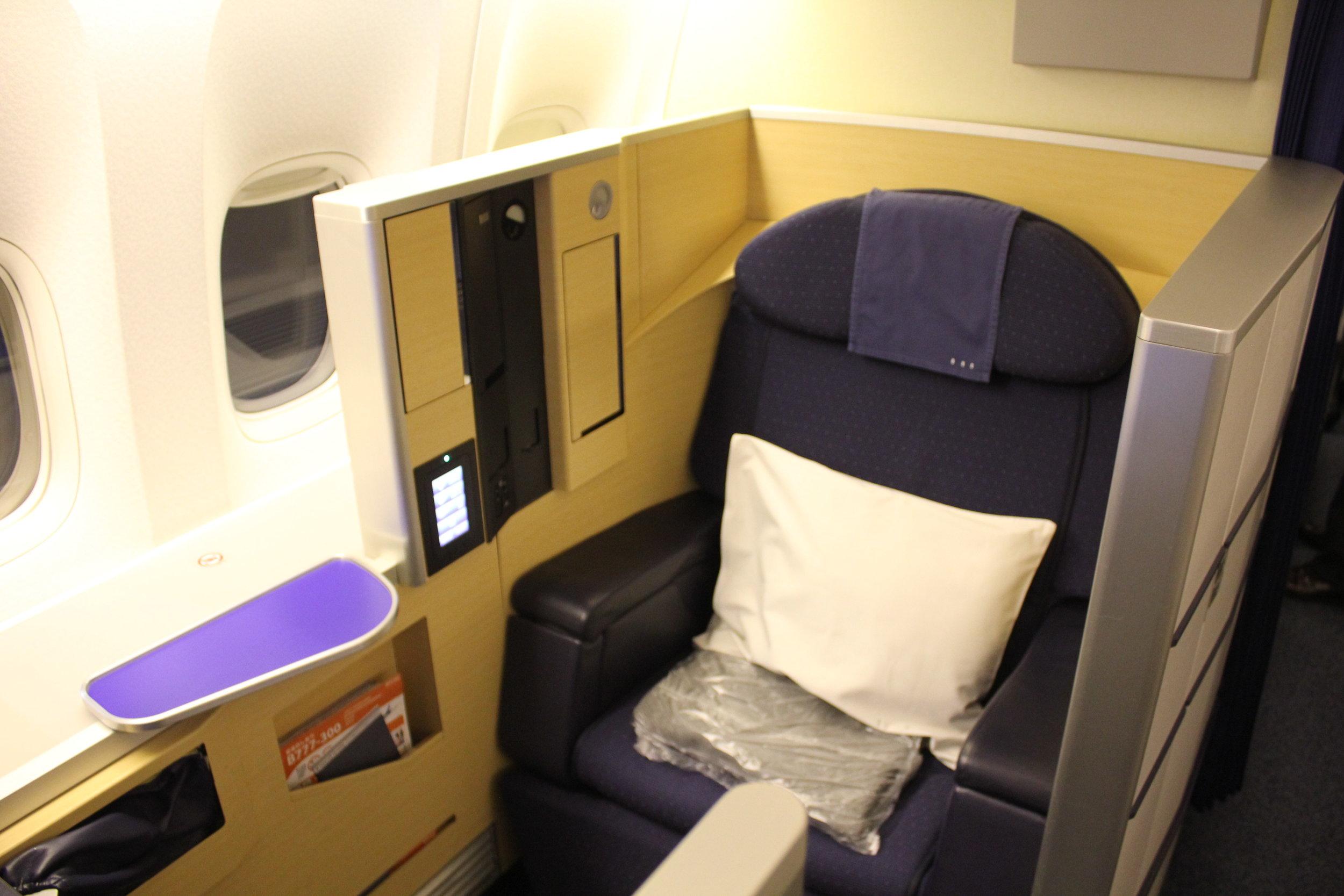 ANA First Class – Seat 2K