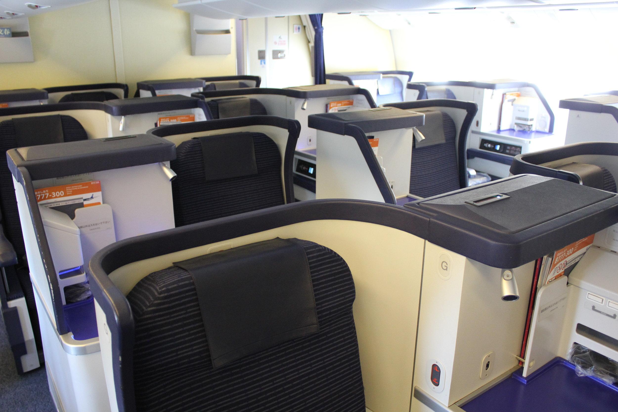 ANA 777 business class – Cabin