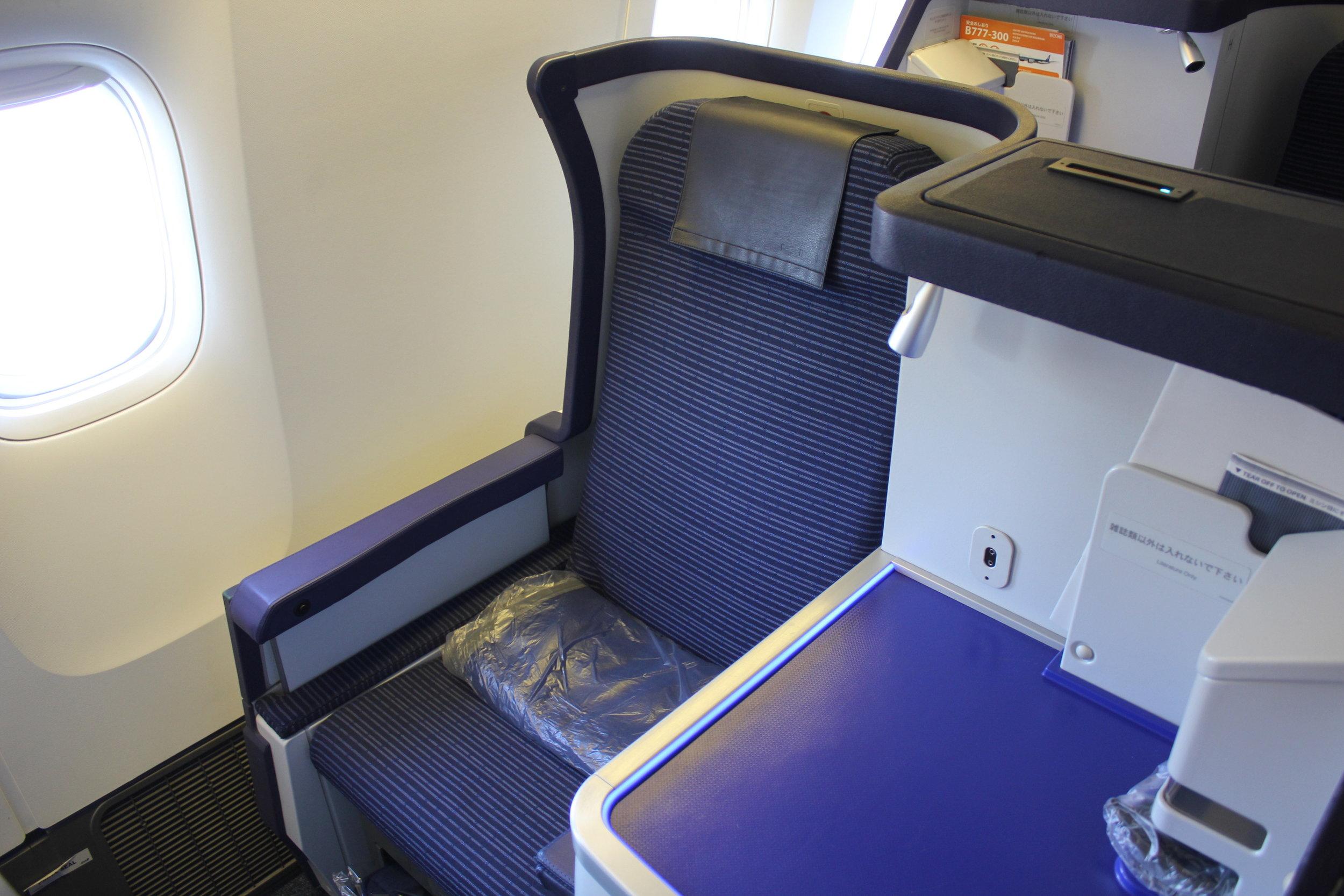 ANA 777 business class – Seat 12K