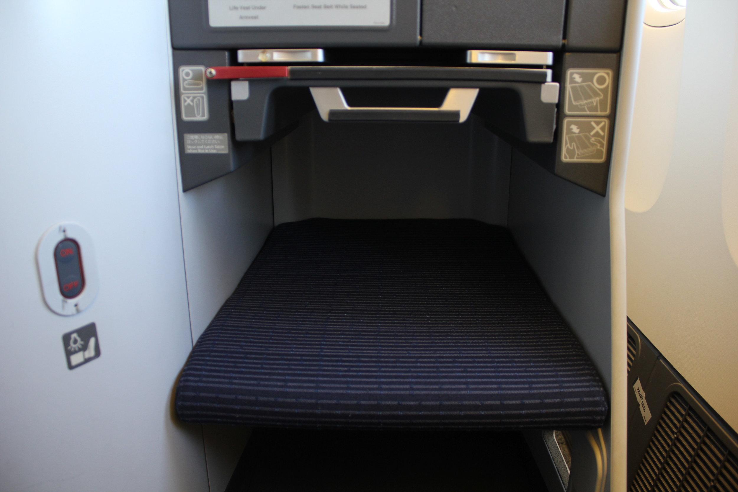 ANA 777 business class – Footrest