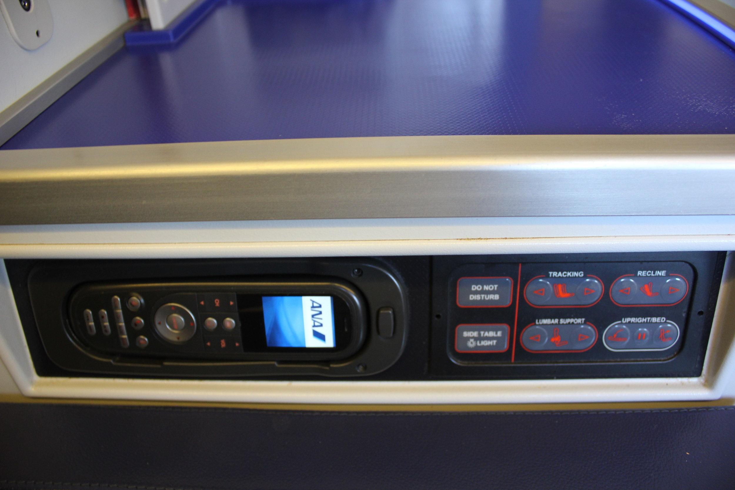 ANA 777 business class – Control panel