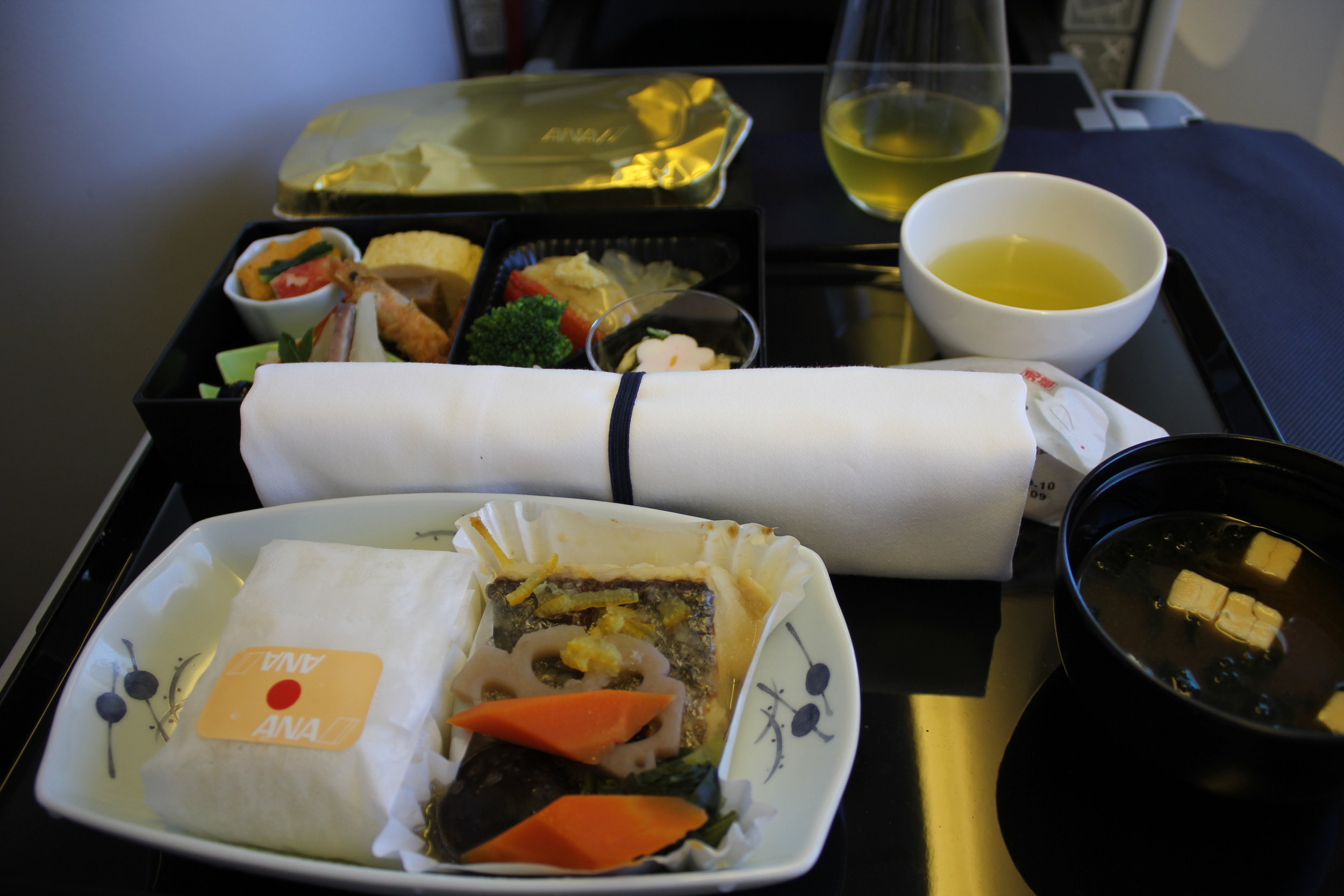 ANA 777 business class – Lunch