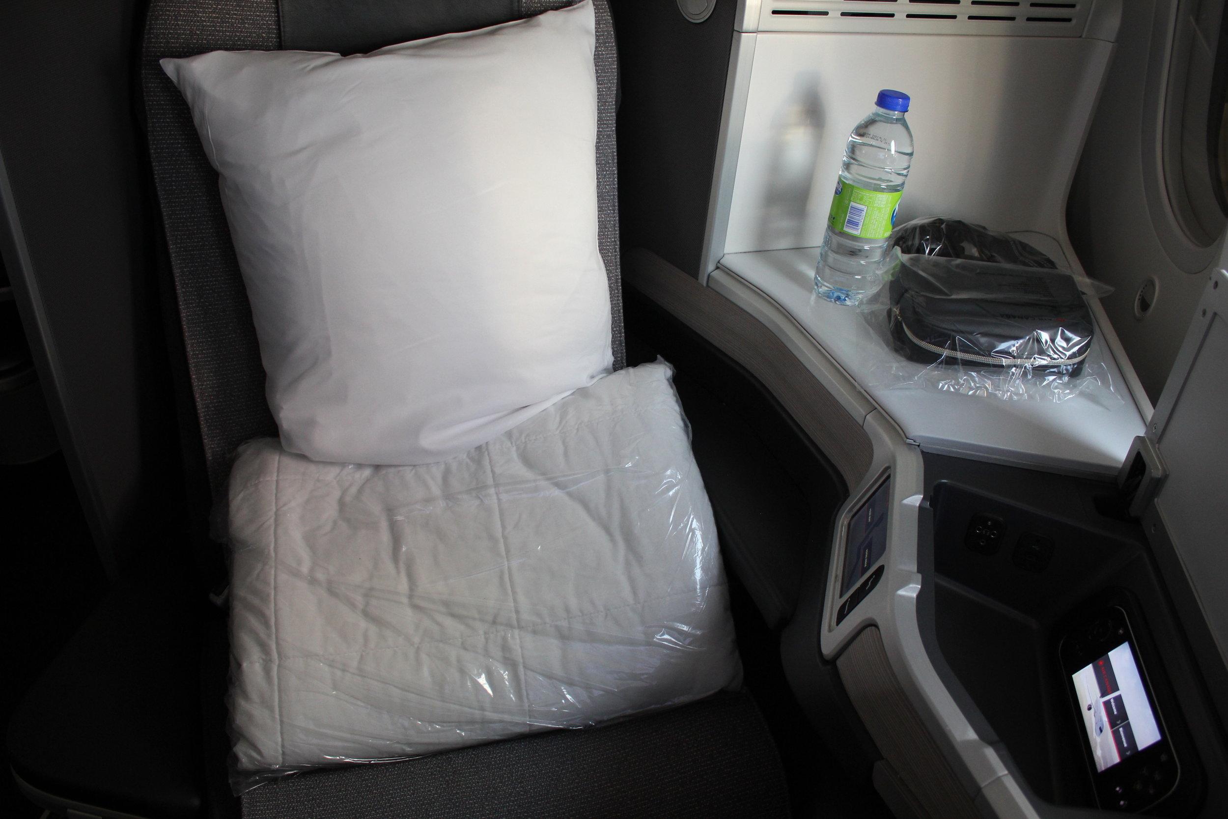 Air Canada business class – Seat 7A