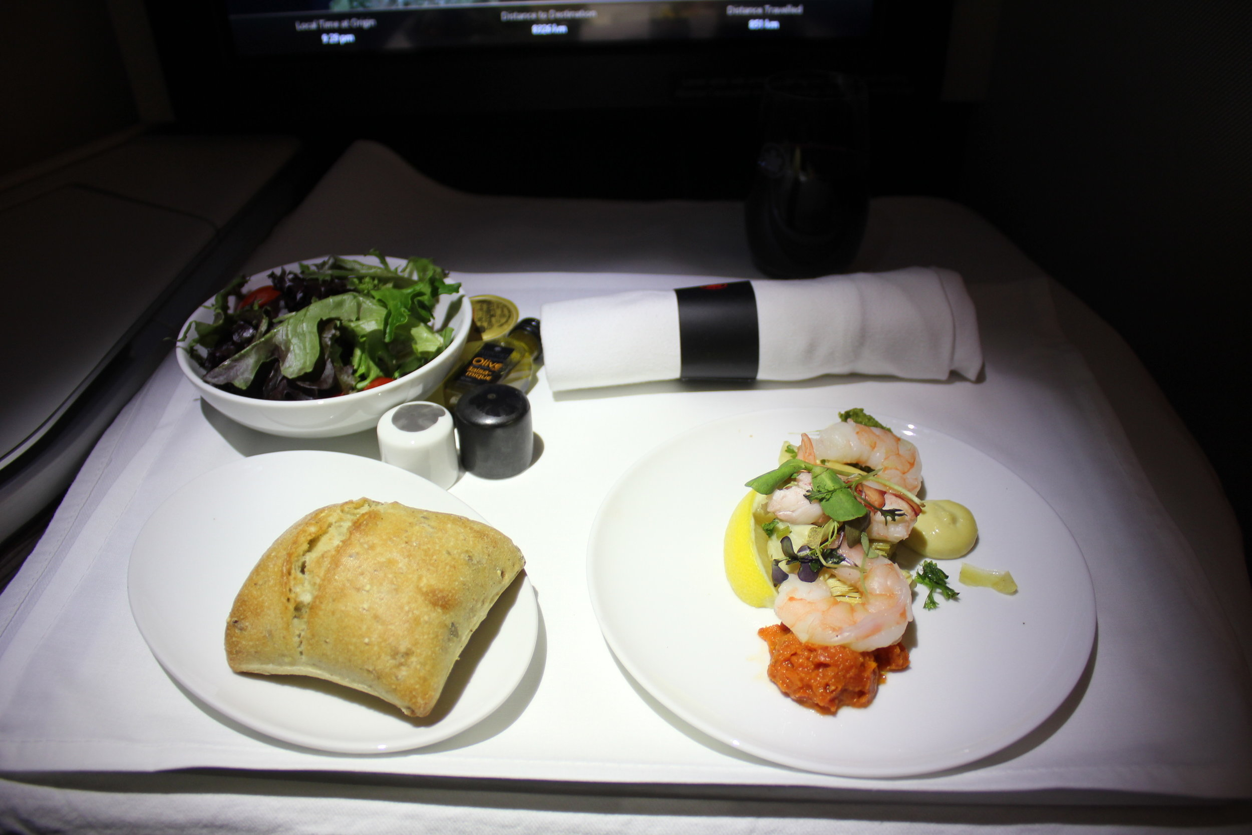 Air Canada business class – Appetizer tray