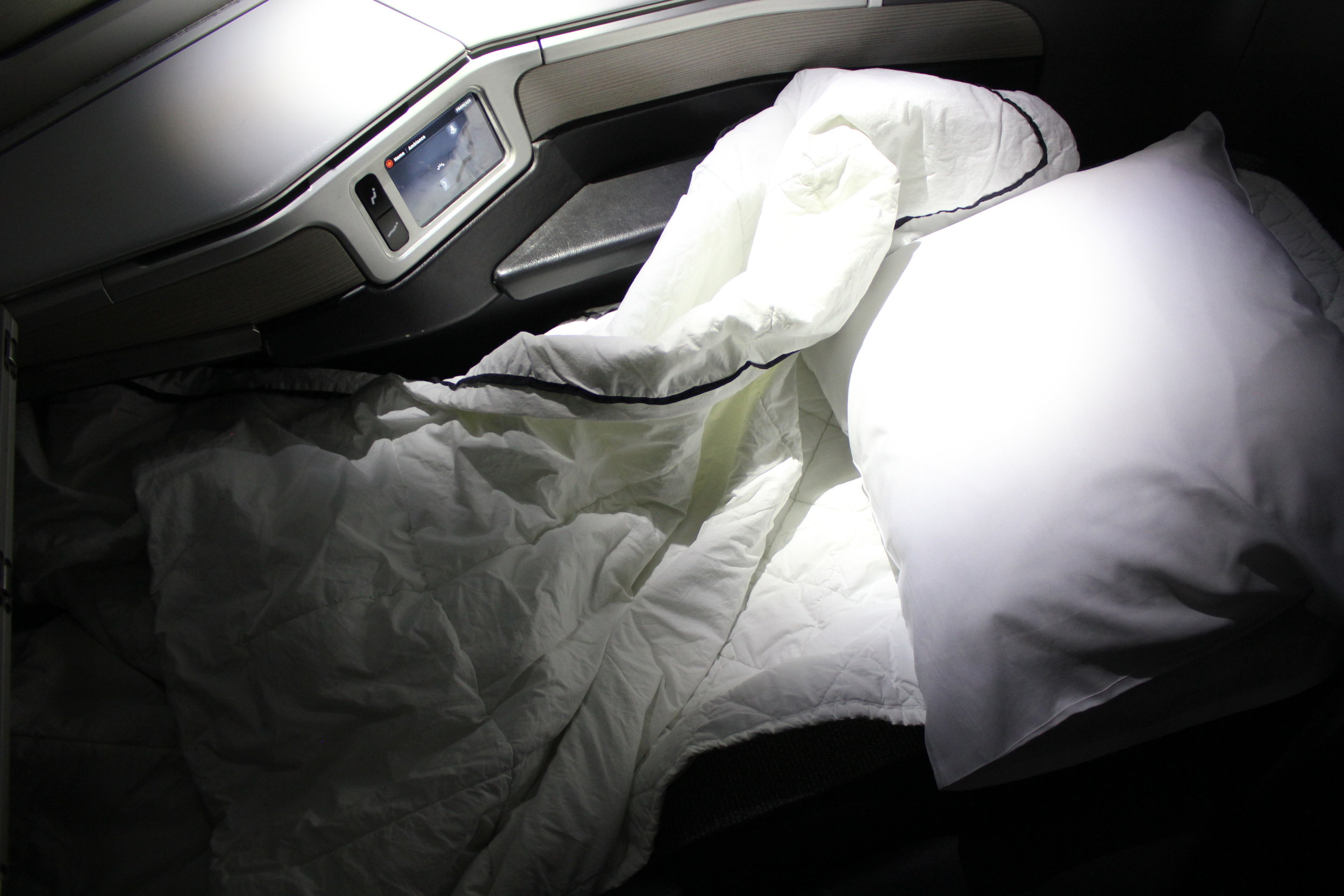 Air Canada business class – Bed