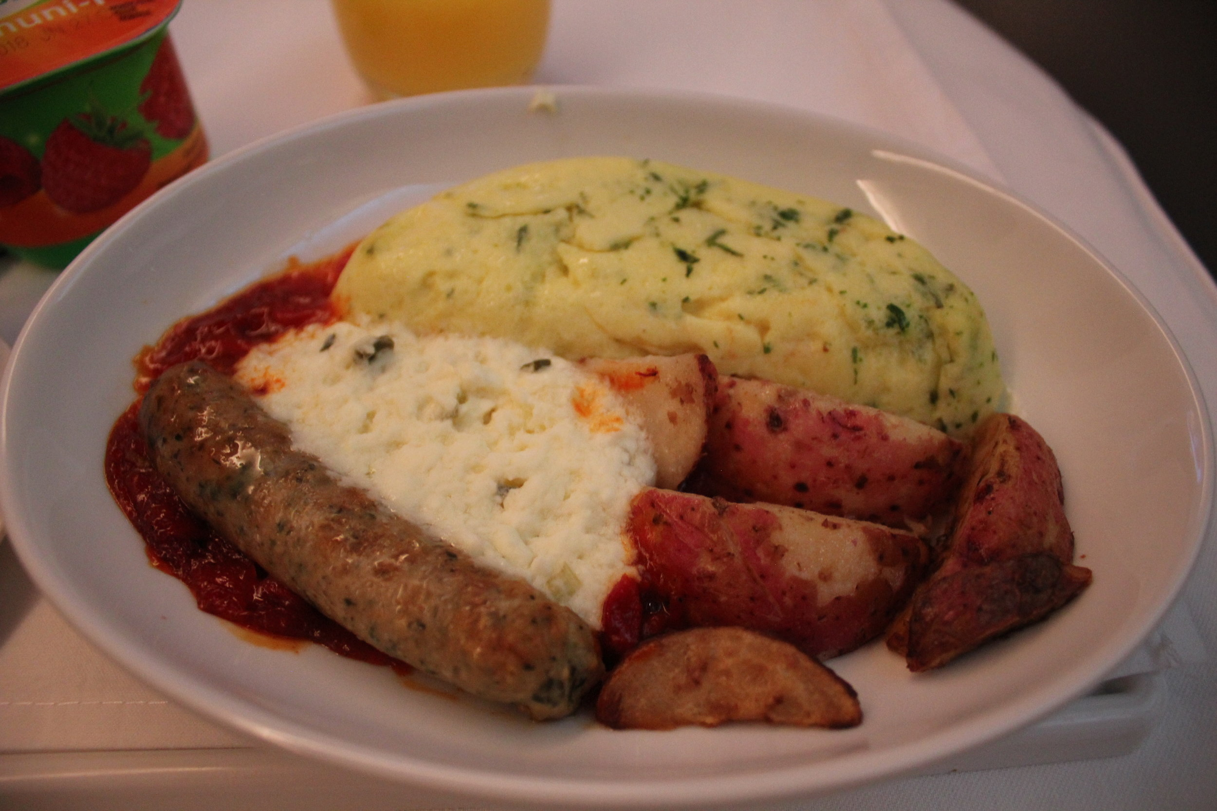 Air Canada business class – Breakfast