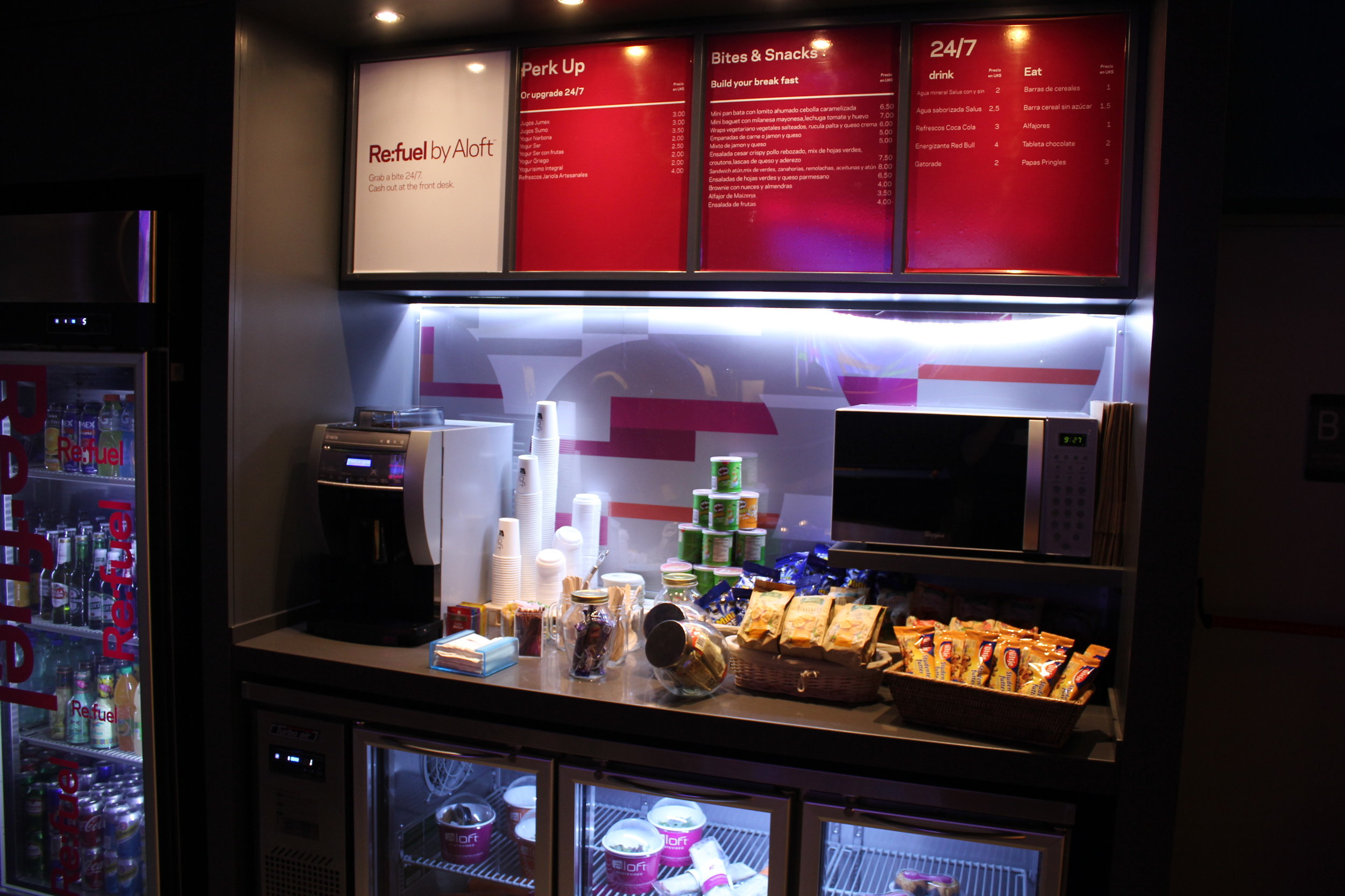 Aloft Montevideo – Re:fuel grab-and-go station