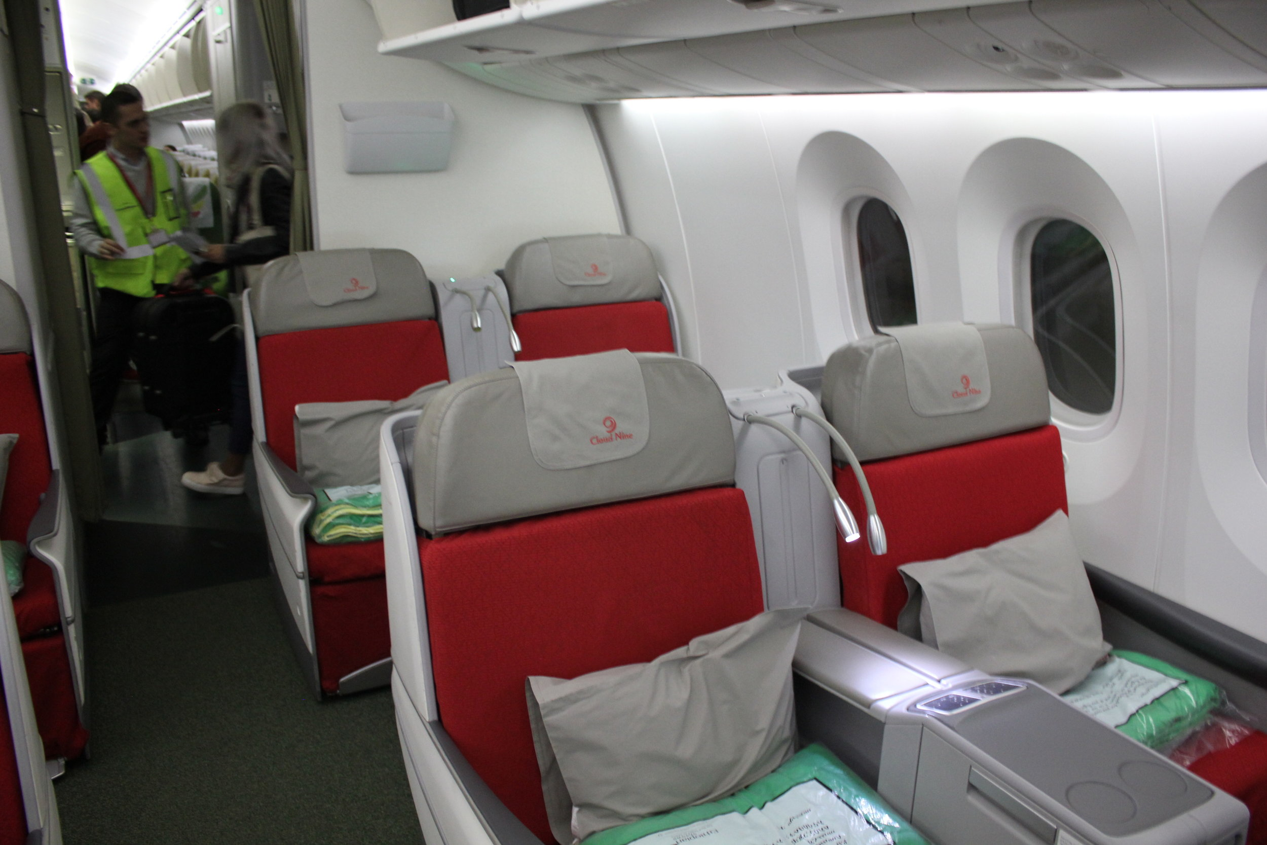 Ethiopian Airlines business class – Cabin