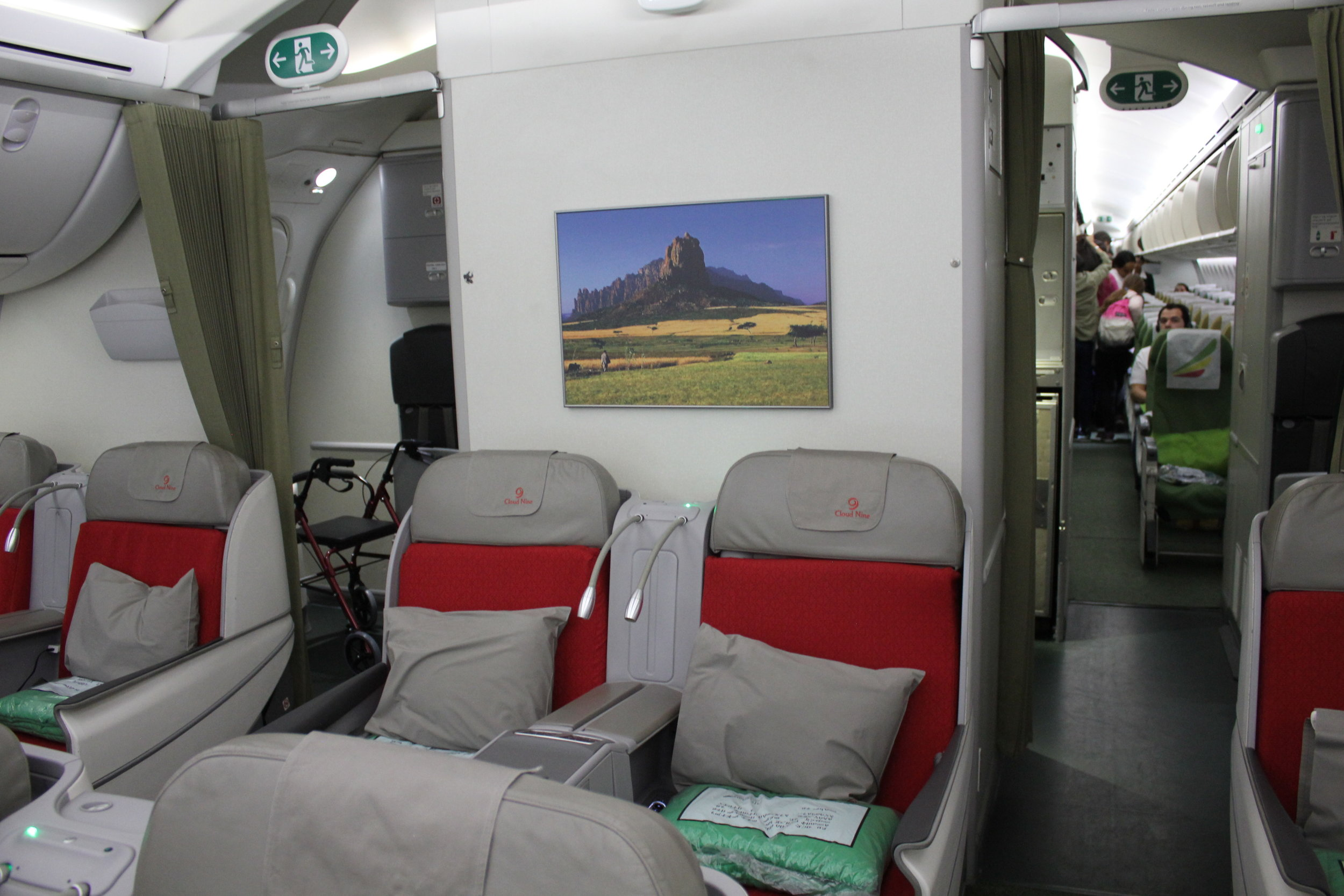 Ethiopian Airlines business class – Backdrop
