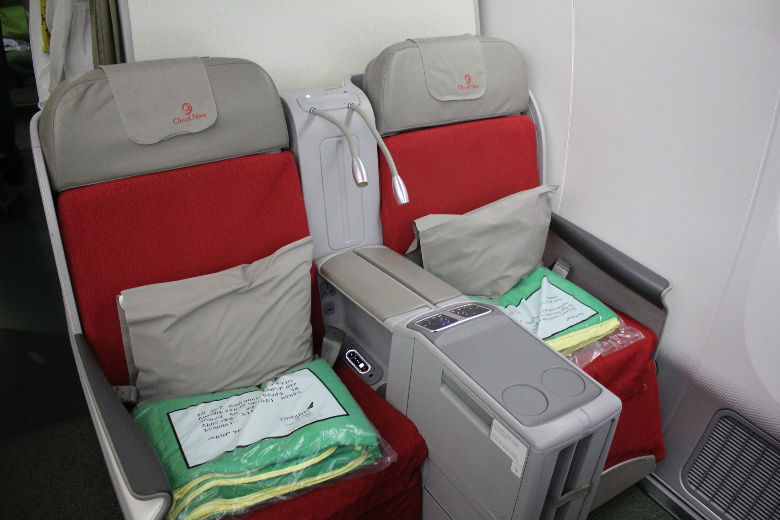 Ethiopian Airlines business class – Seats 4A and 4B