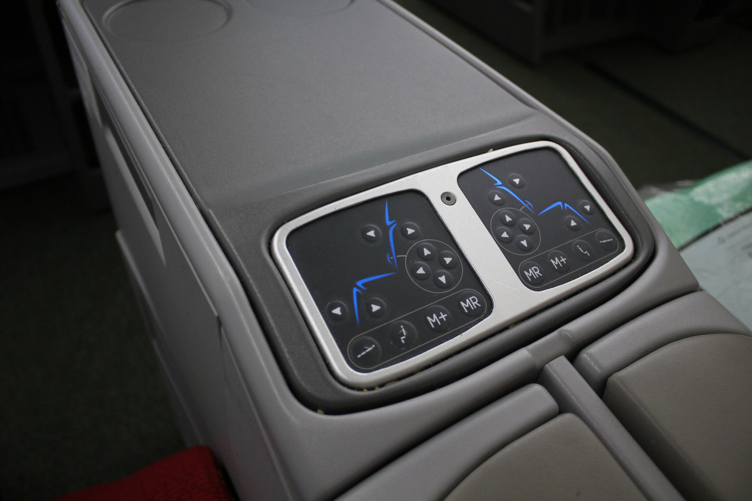 Ethiopian Airlines business class – Seat controls