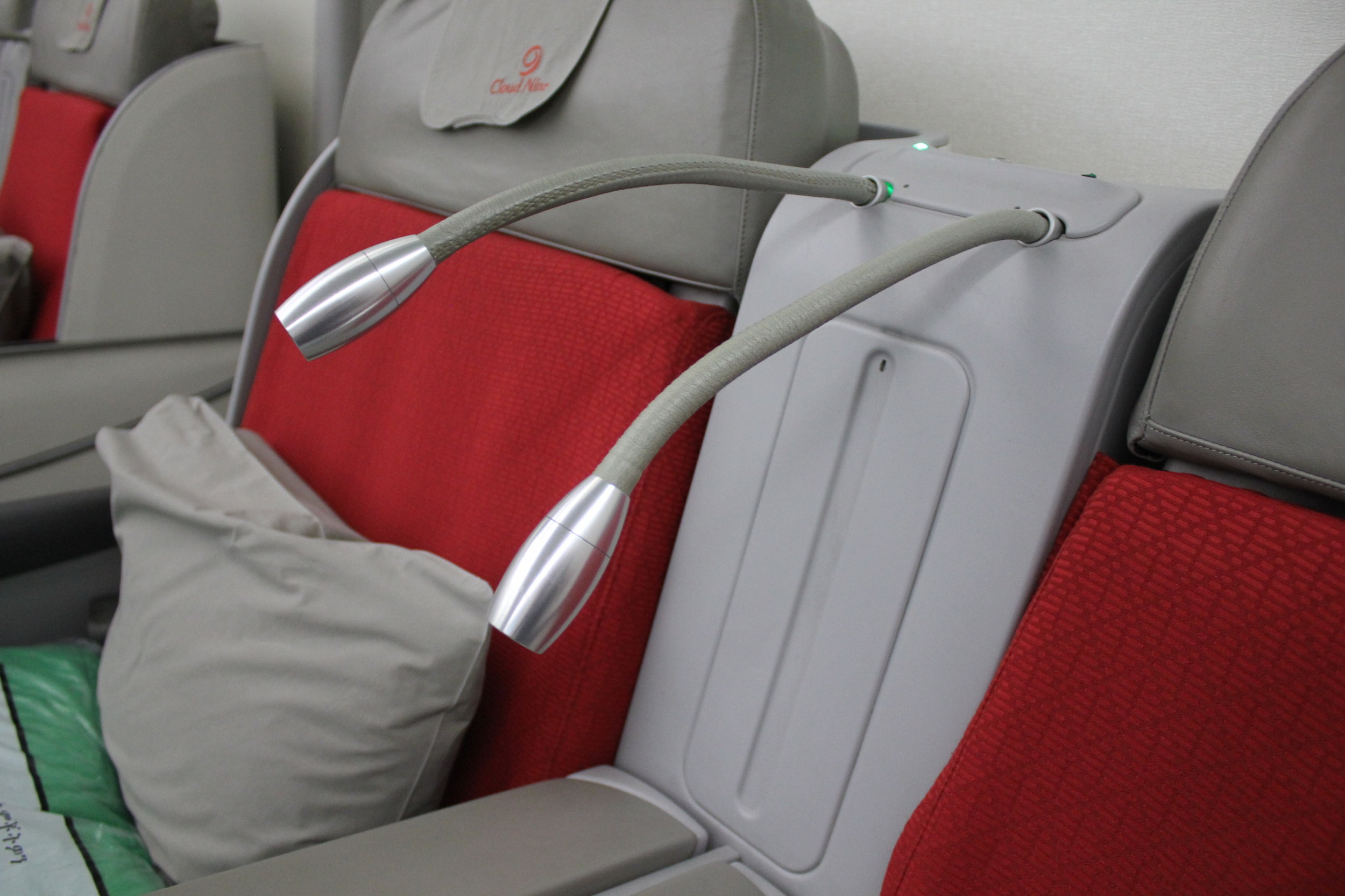 Ethiopian Airlines business class – Reading light