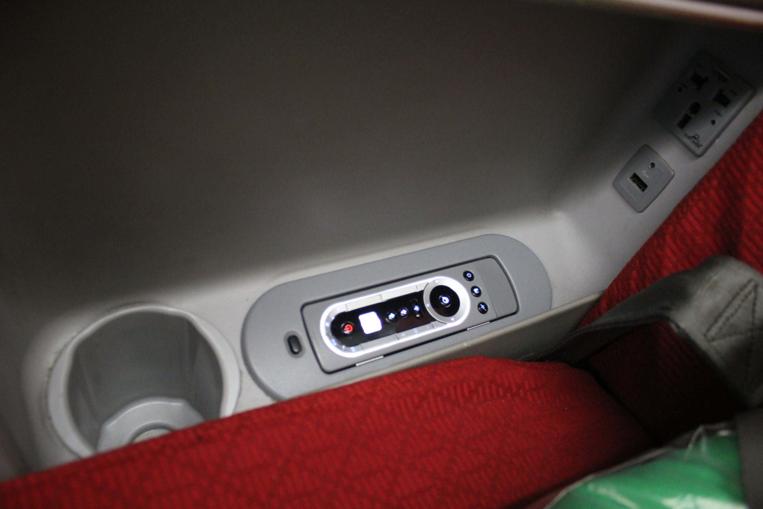 Ethiopian Airlines business class – Seat features