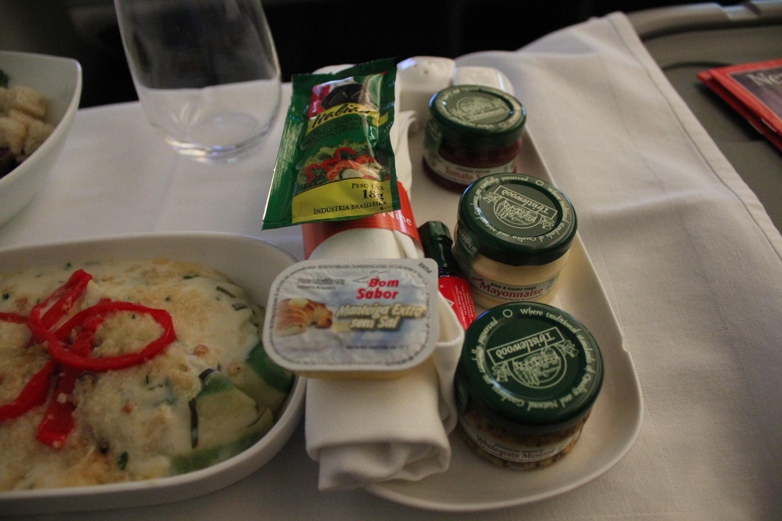 Ethiopian Airlines business class – Condiments