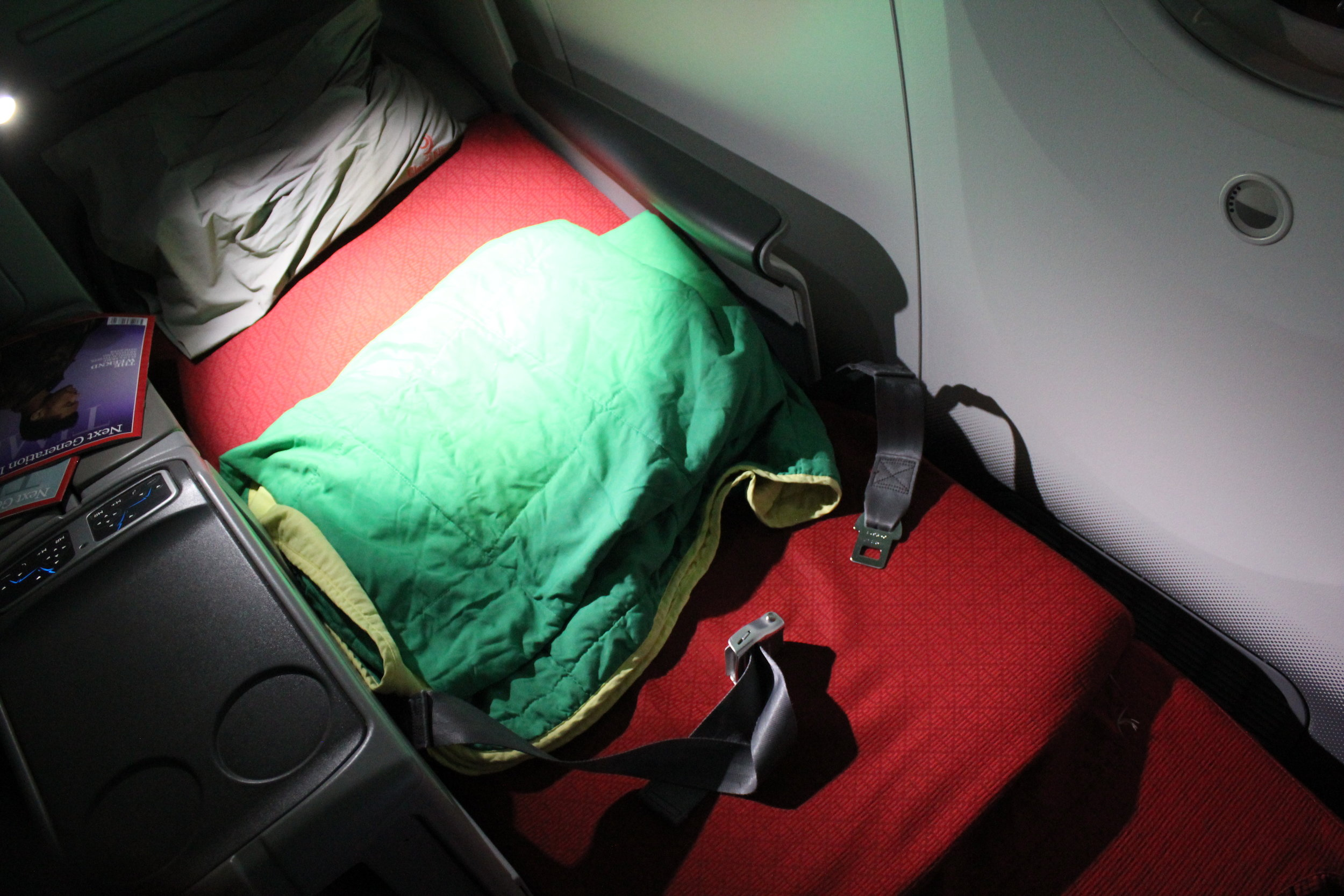 Ethiopian Airlines business class – Bed