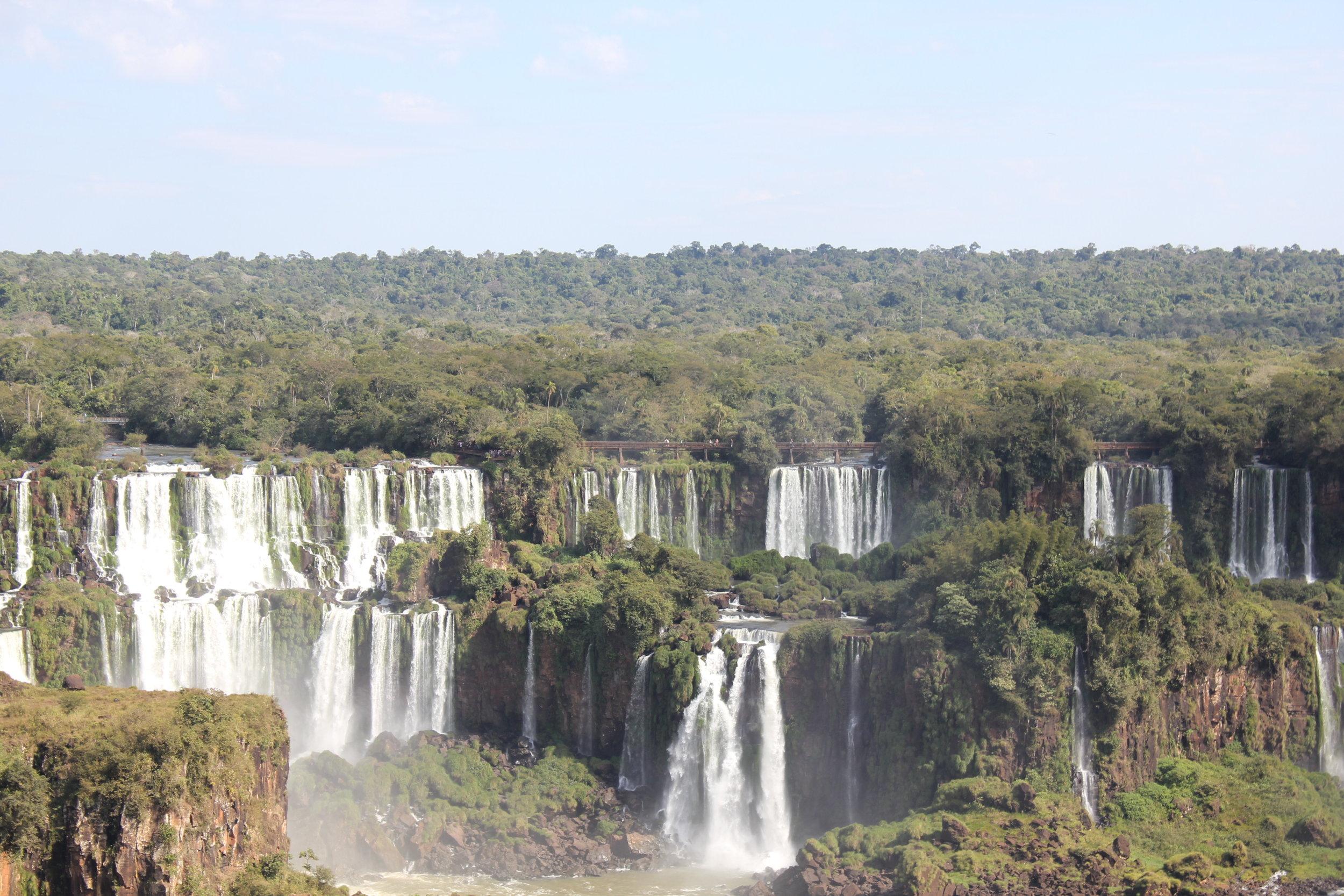 Iguazu Falls – View from the Brazil side