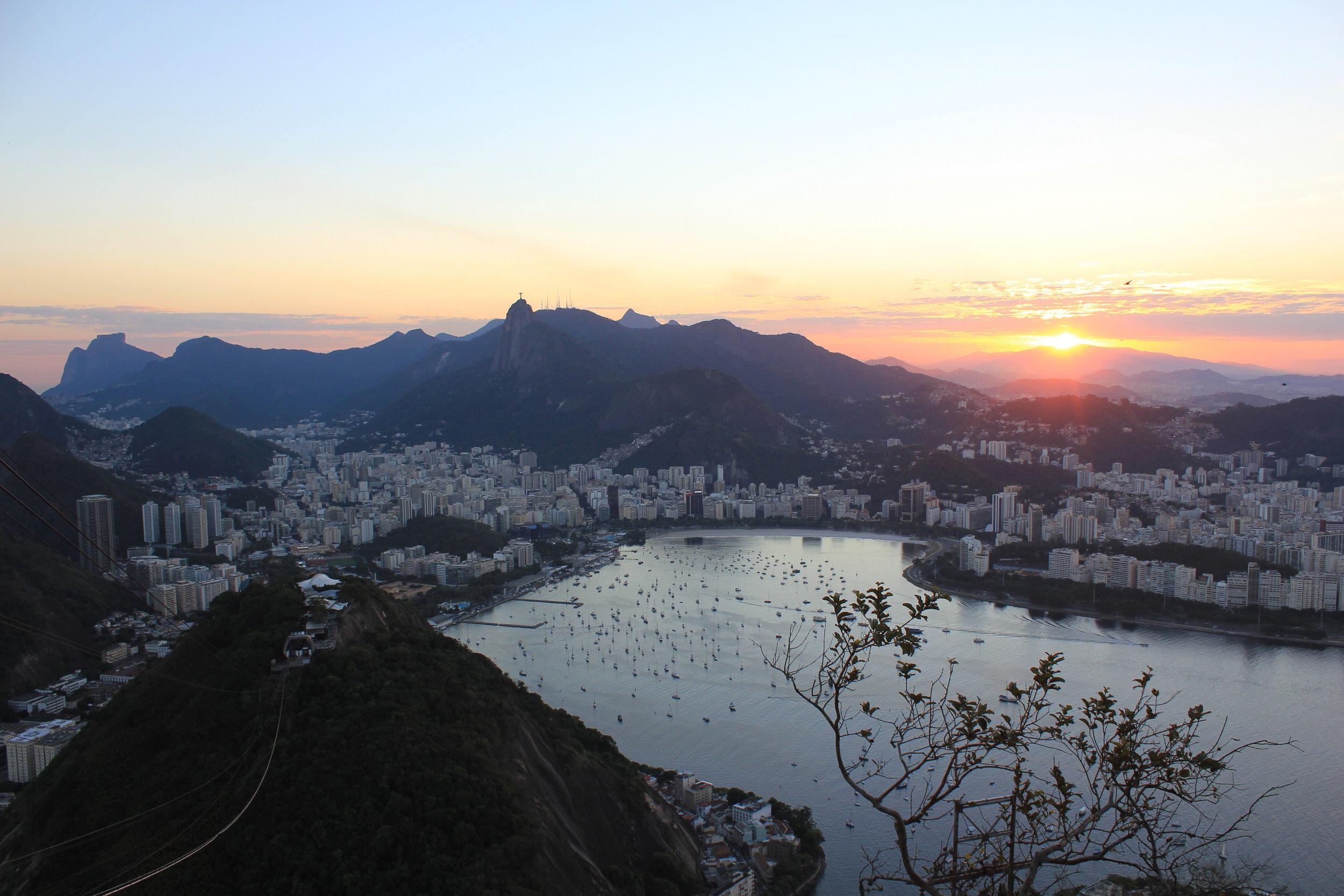 Rio de Janeiro, Brazil – Sunset view from Sugarloaf Mountain