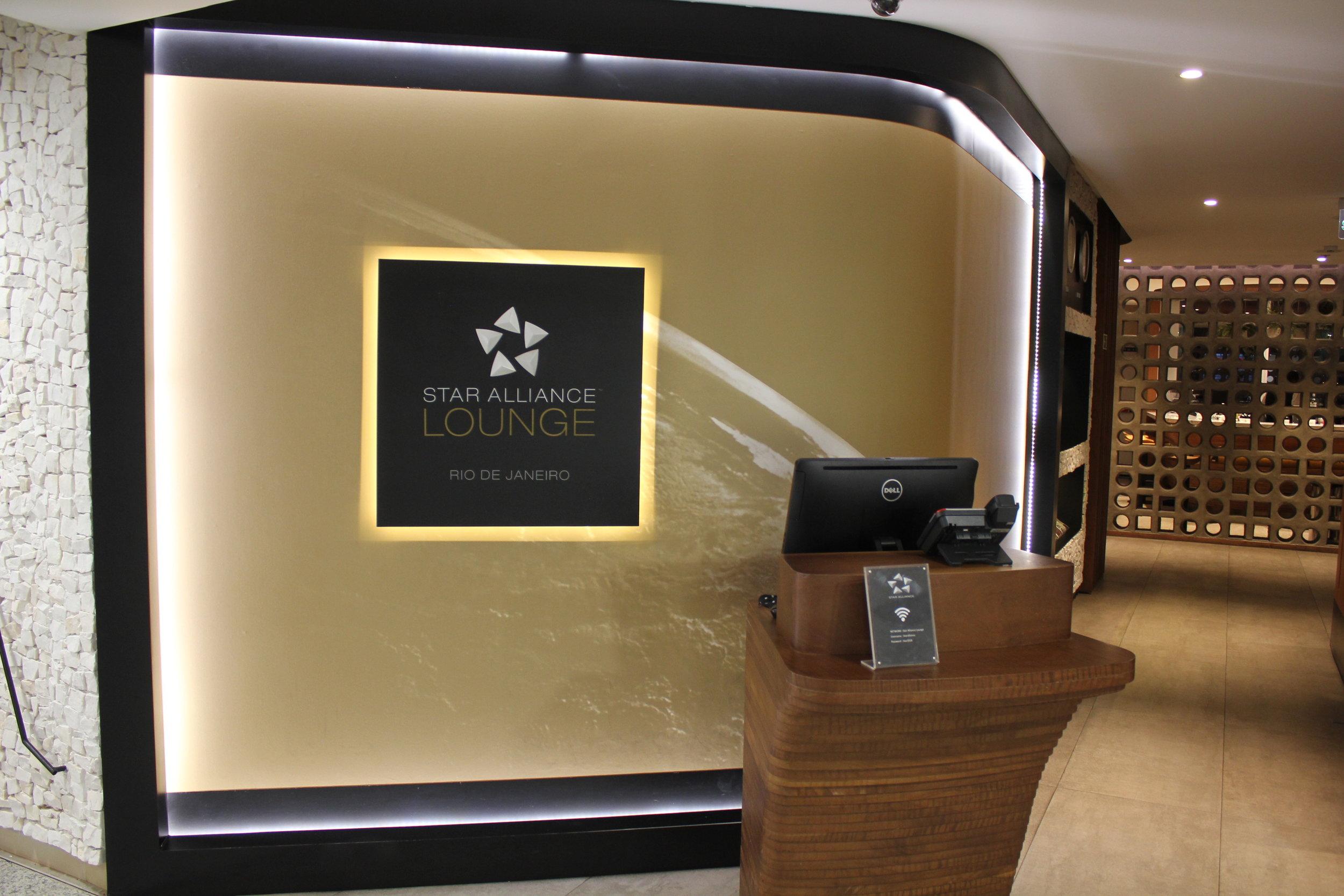 Star Alliance Lounge Rio de Janeiro – Entrance