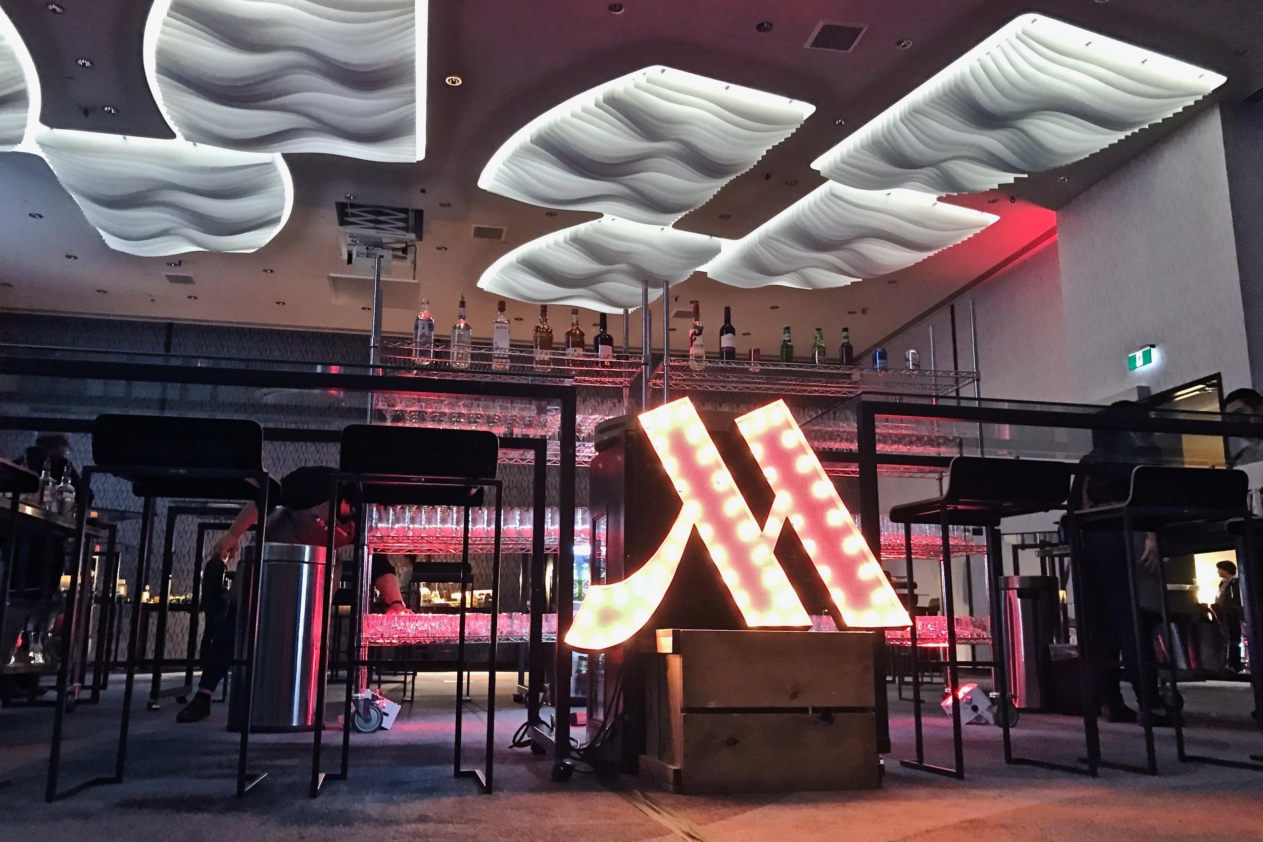 Last year's open bar, courtesy of the Marriott YYC