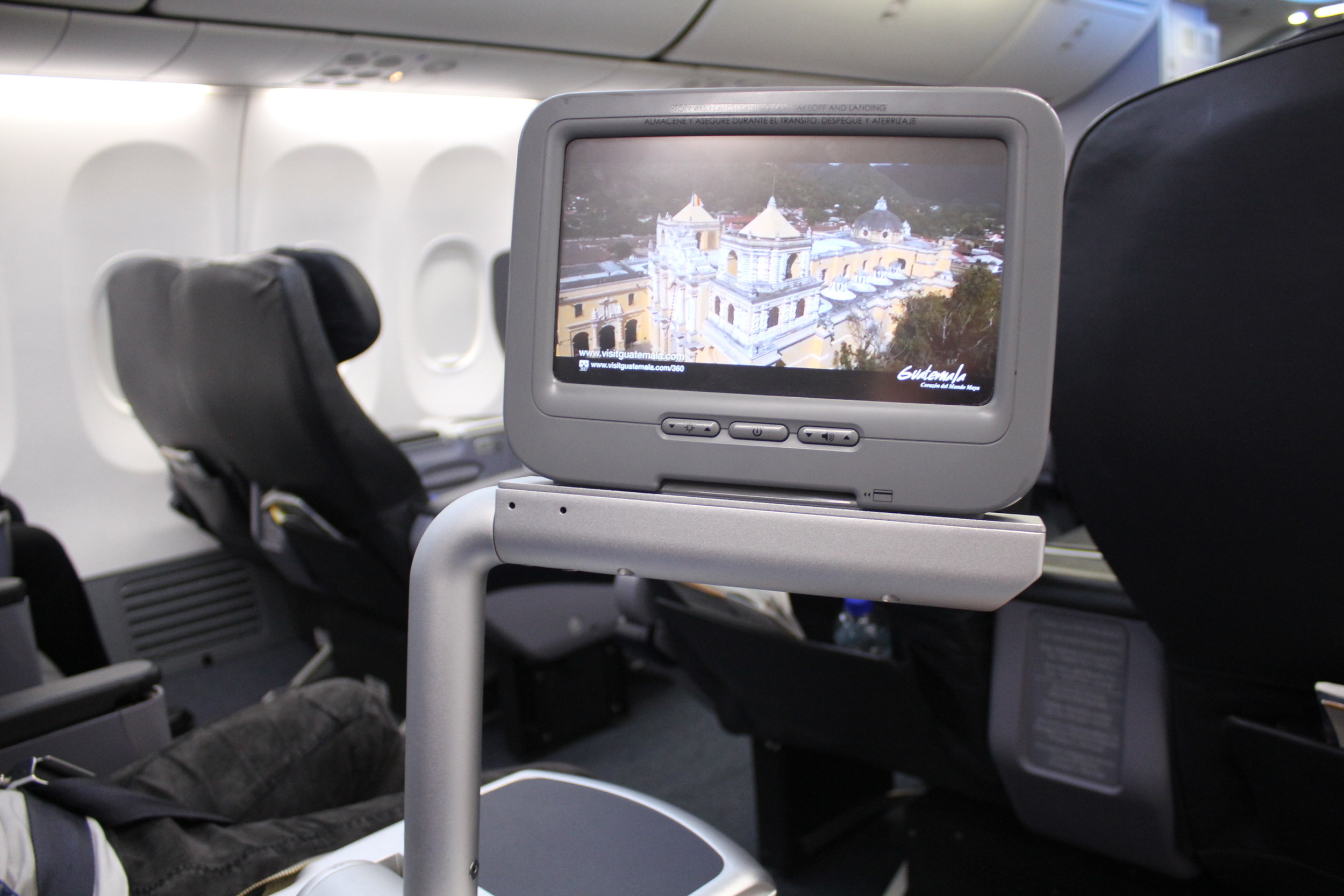 Copa Airlines business class – Entertainment system