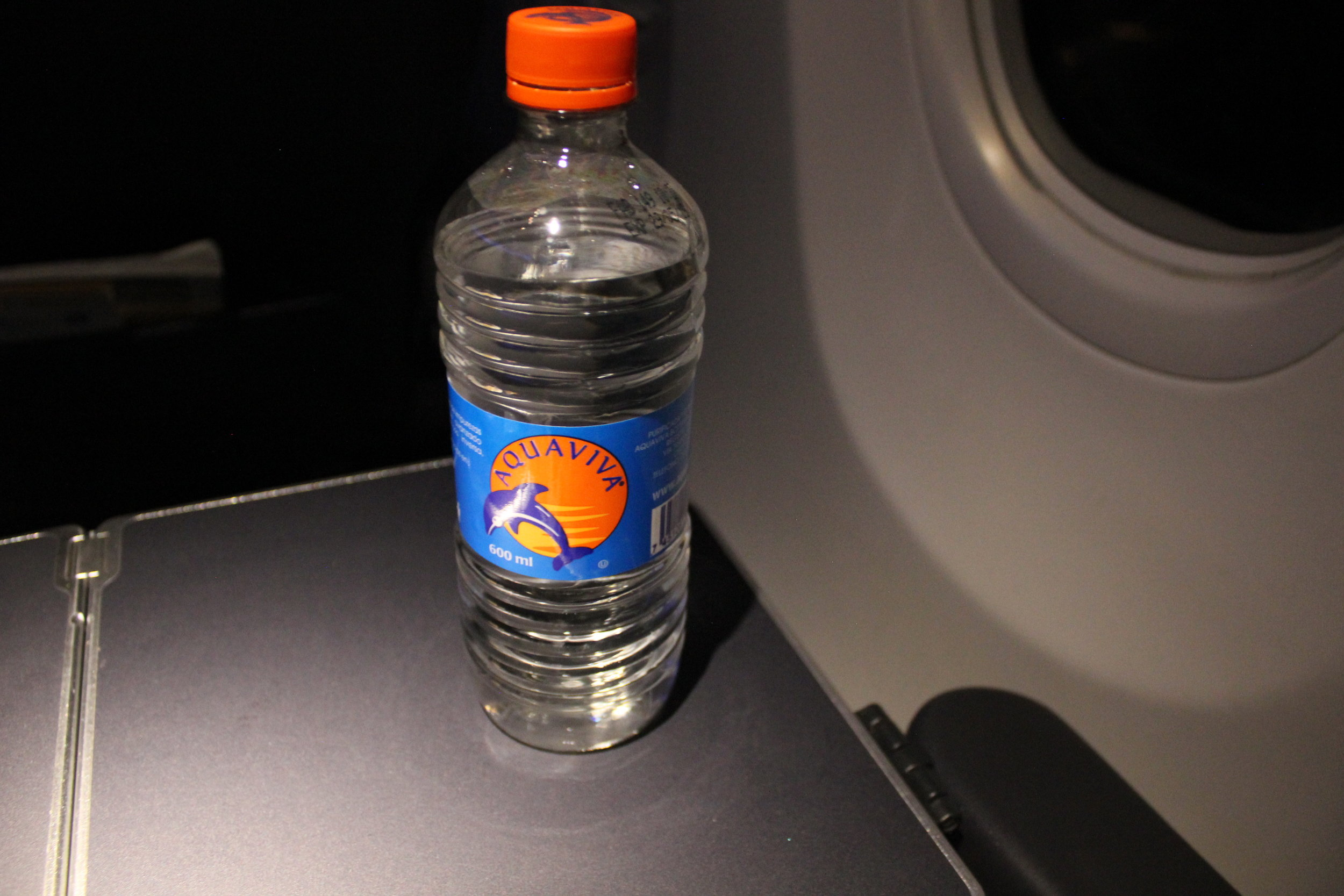 Copa Airlines business class – Bottled water