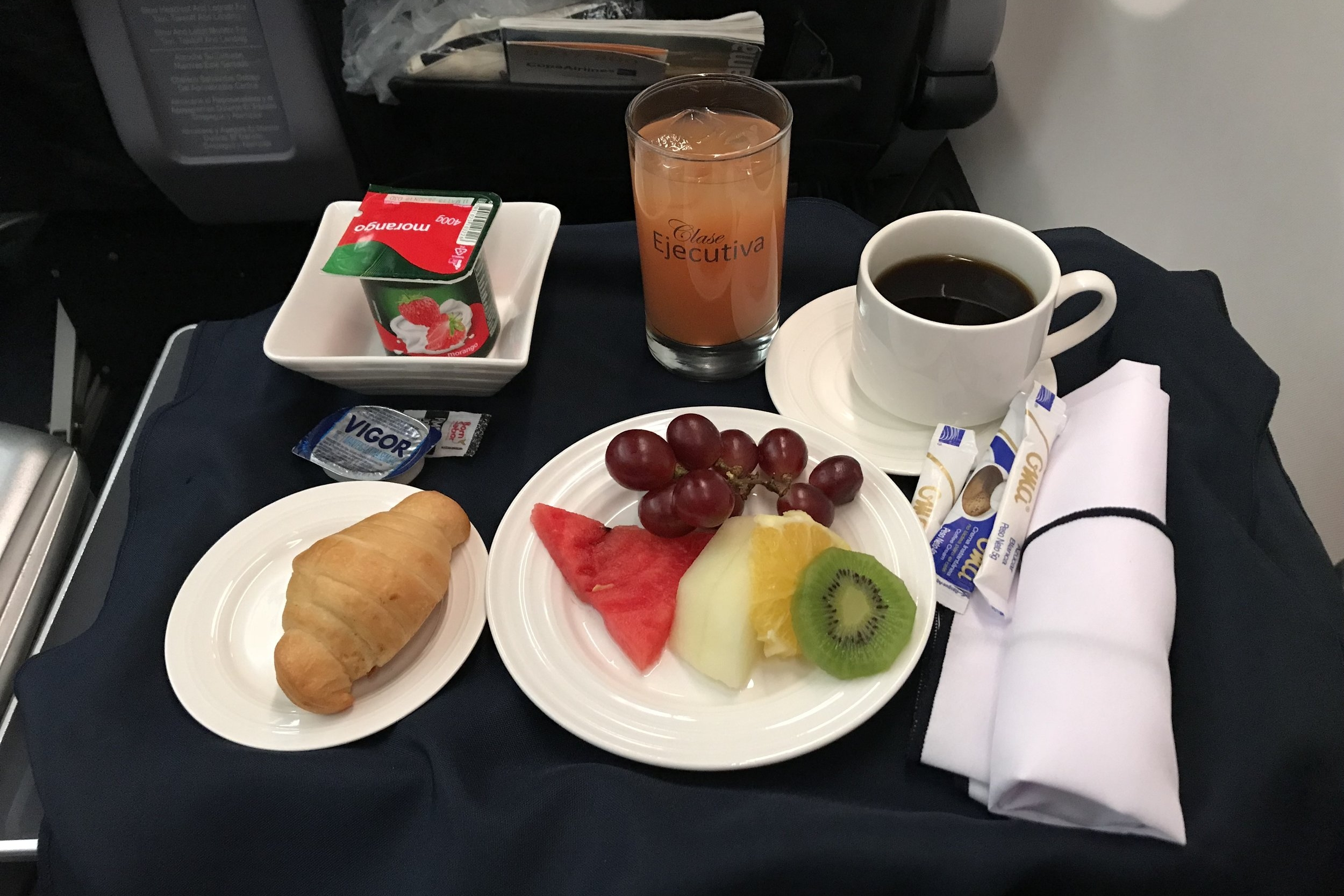 Copa Airlines business class – Breakfast