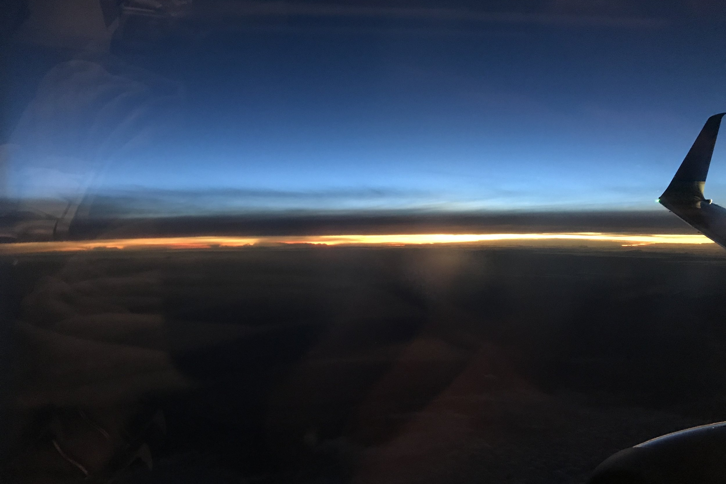 Copa Airlines business class – Sunrise upon descent