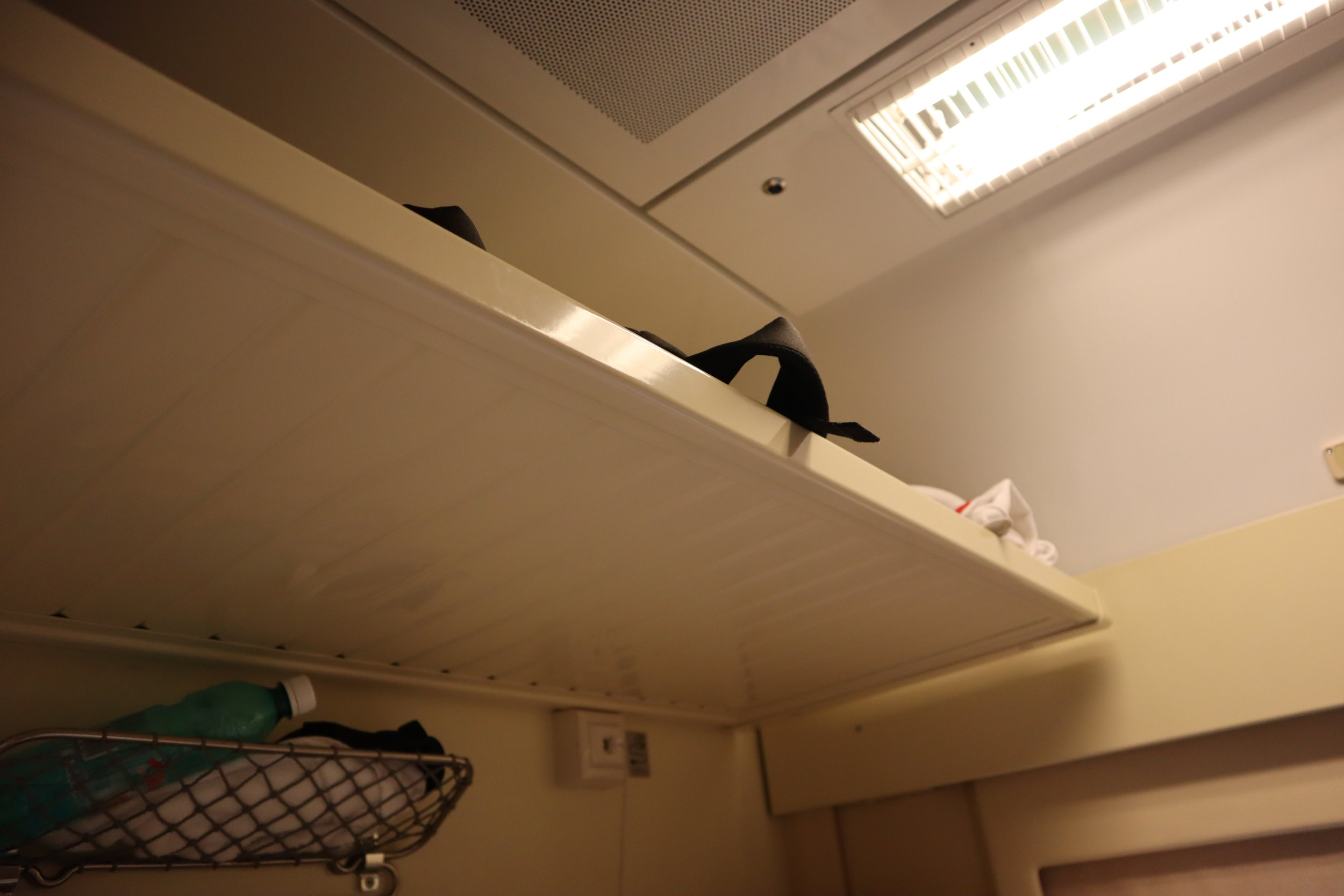 Trans-Siberian Railway Third Class – Storage above top bunk
