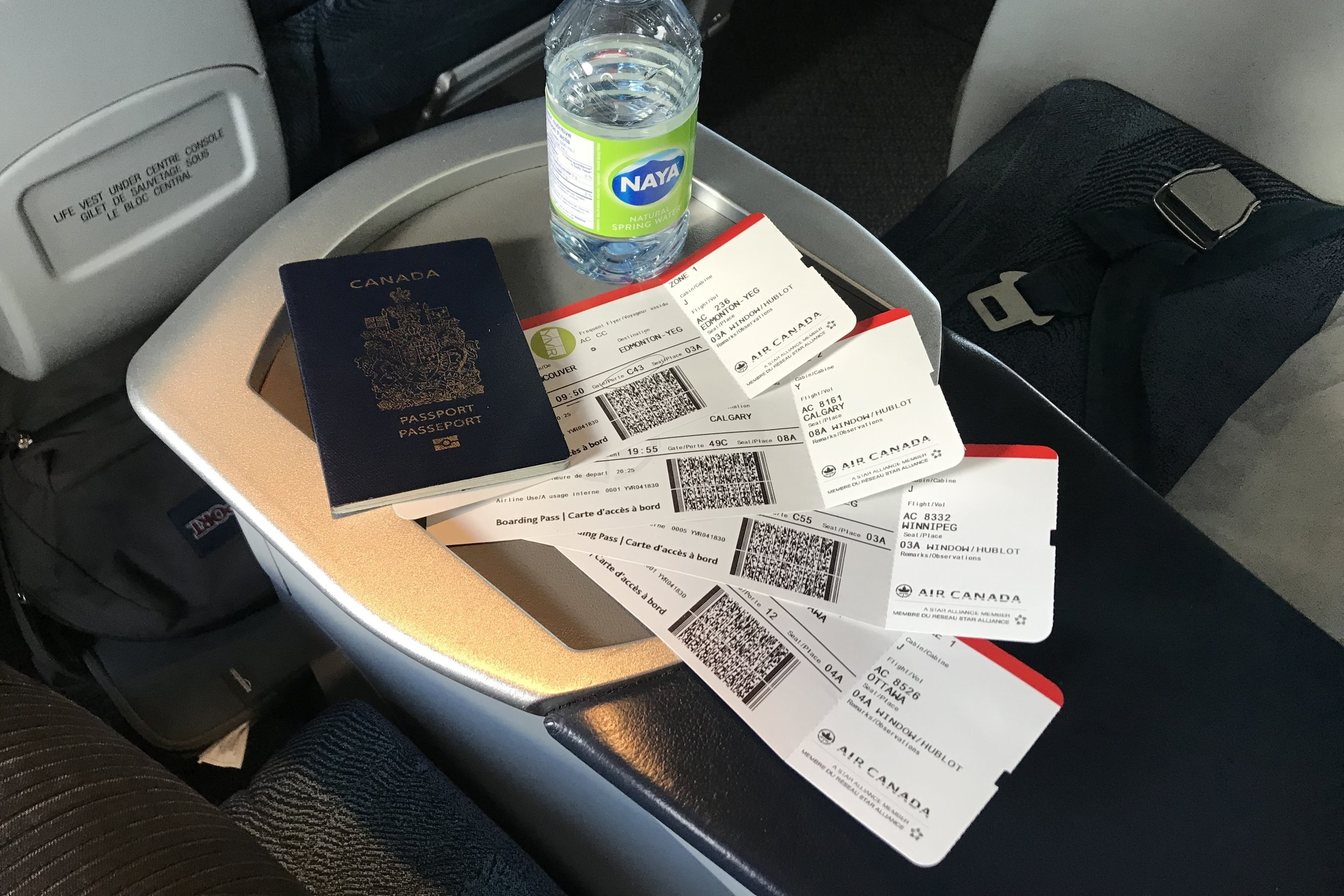 The first set of boarding passes…