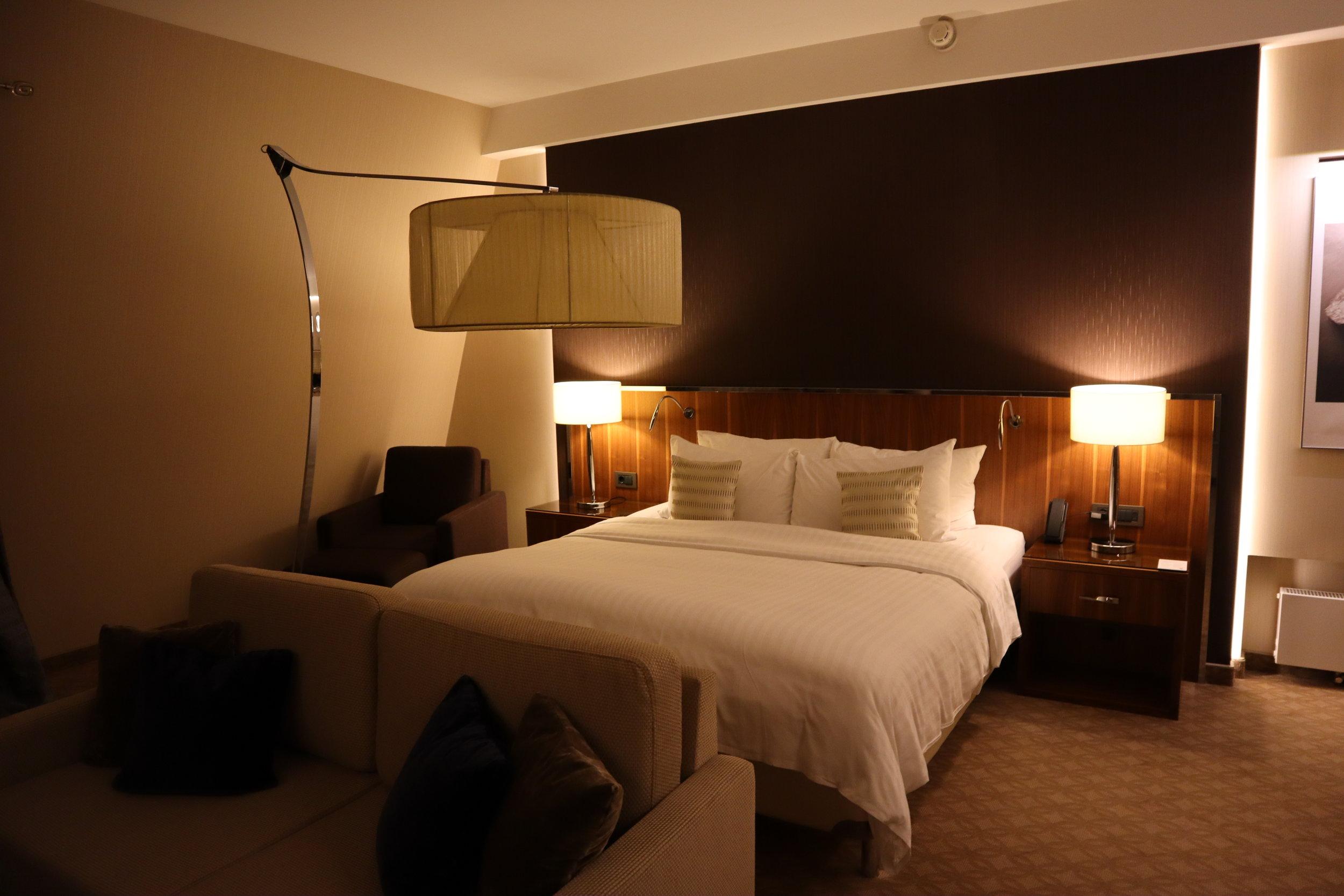 Junior suite at the  Marriott Novosibirsk