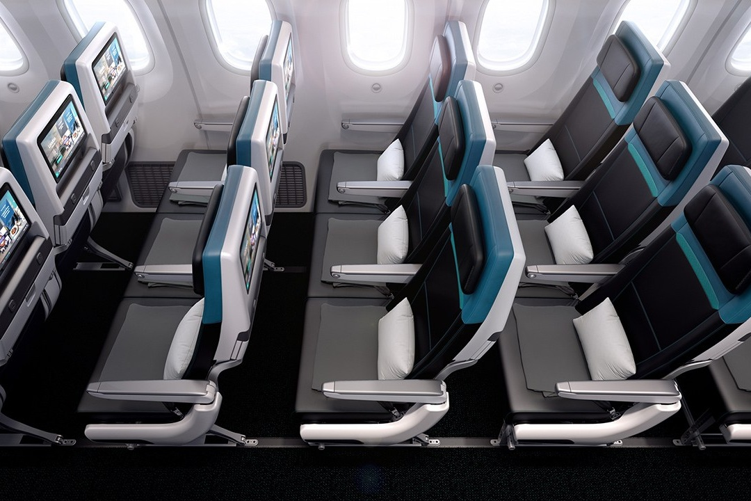 Economy class on the WestJet 787, currently in service from Calgary to Europe