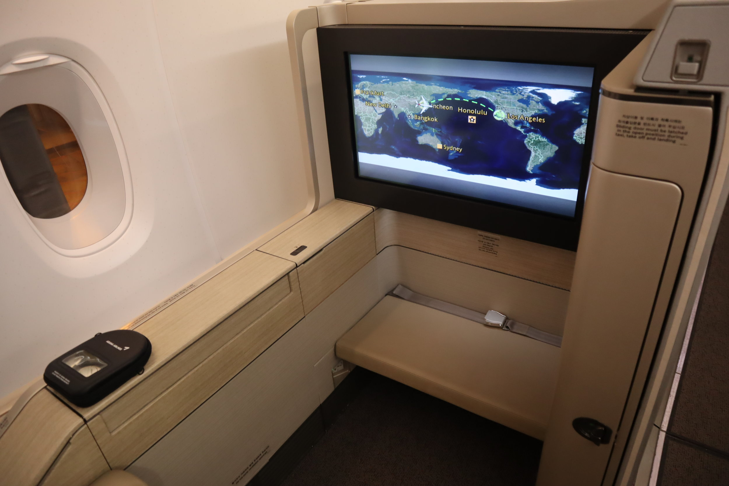 Asiana Airlines First Class – Seat 3A